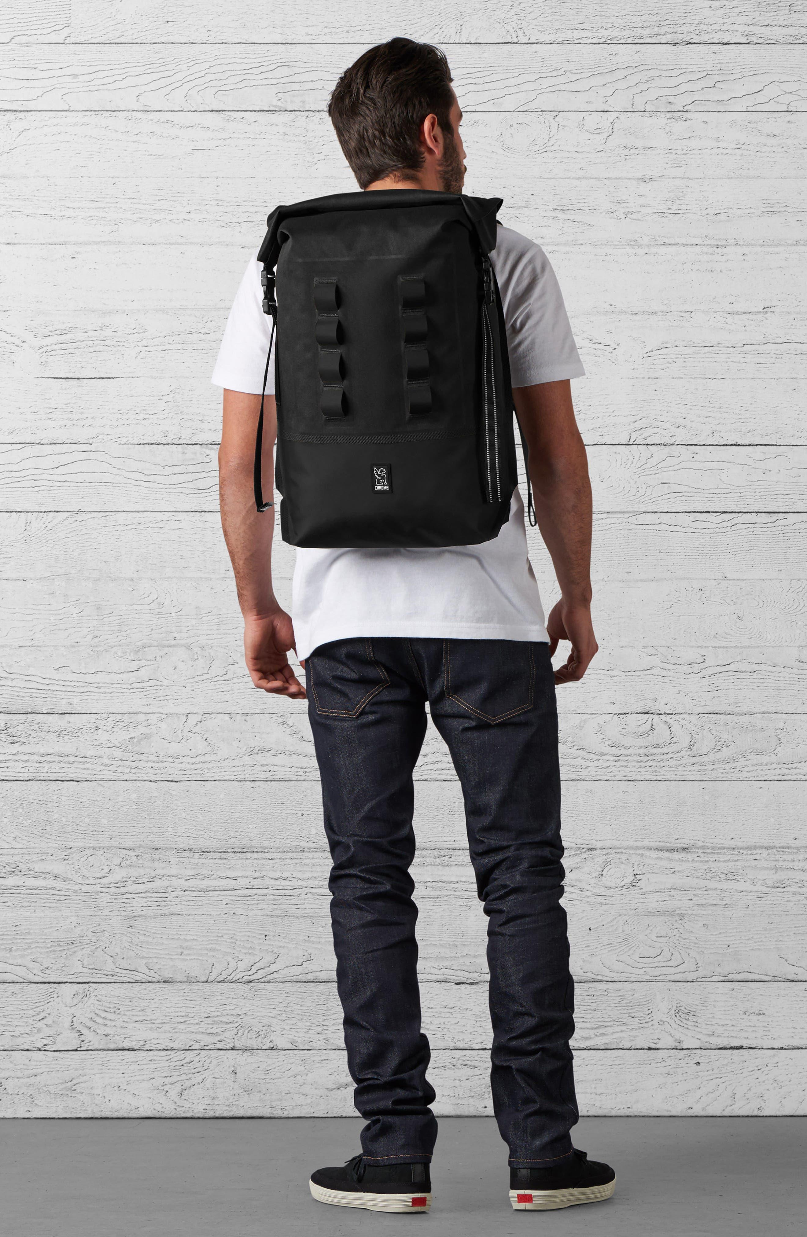 Urban Ex Rolltop Waterproof Backpack,                             Alternate thumbnail 2, color,                             BLACK/ BLACK
