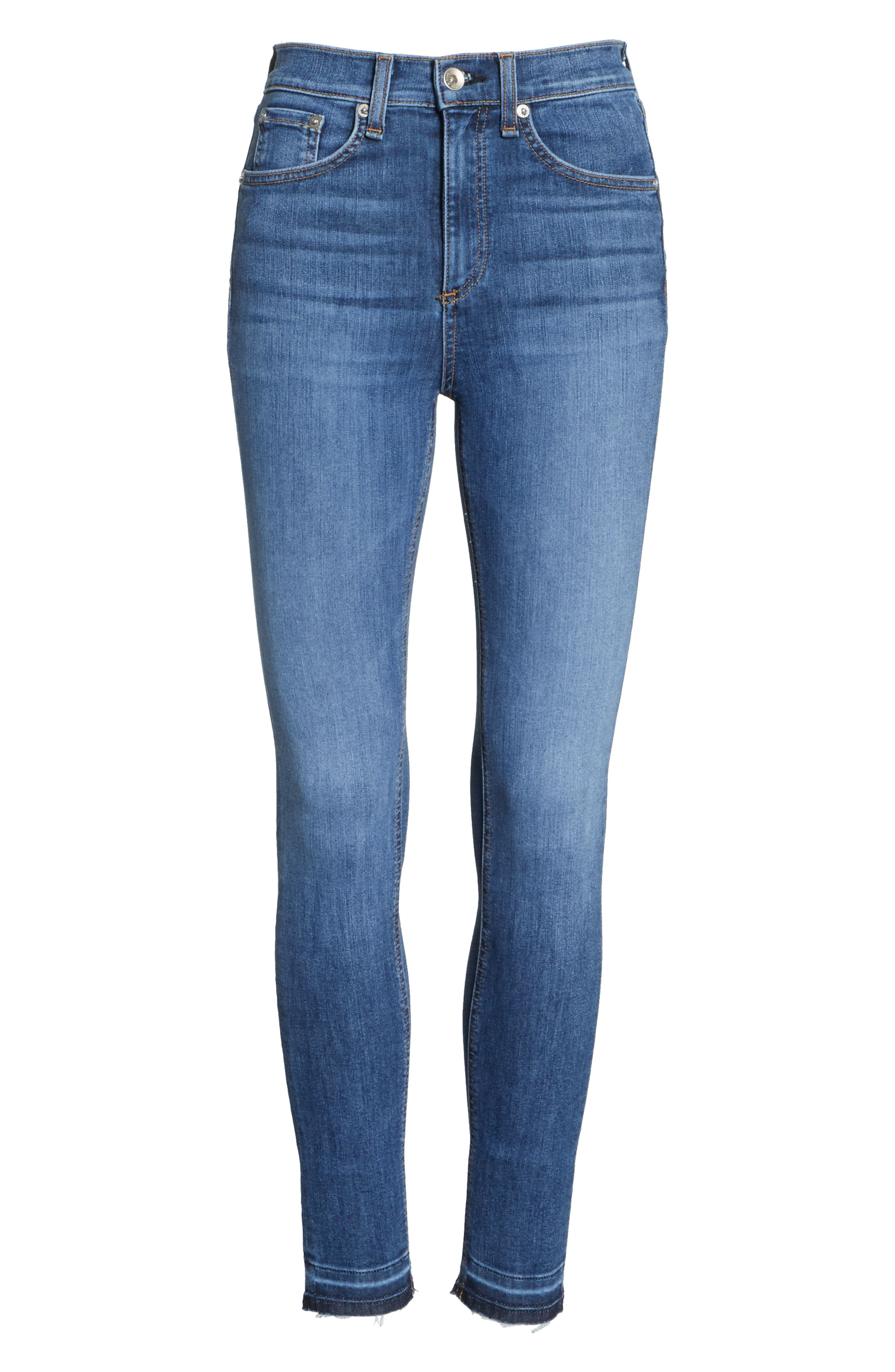 High Waist Ankle Skinny Jeans,                             Alternate thumbnail 7, color,                             426