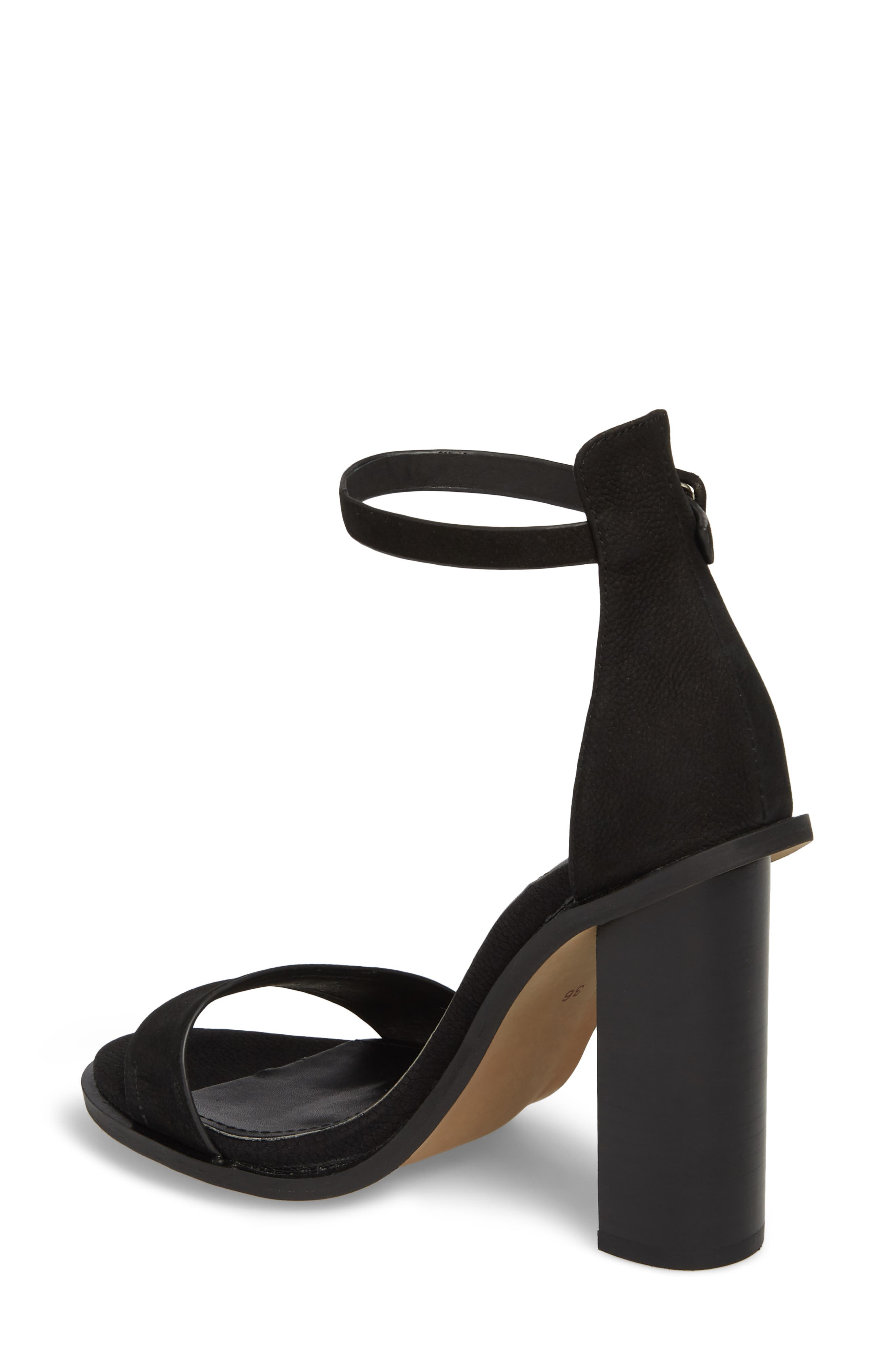 Addax Sandal,                             Alternate thumbnail 2, color,                             BLACK NUBUCK LEATHER