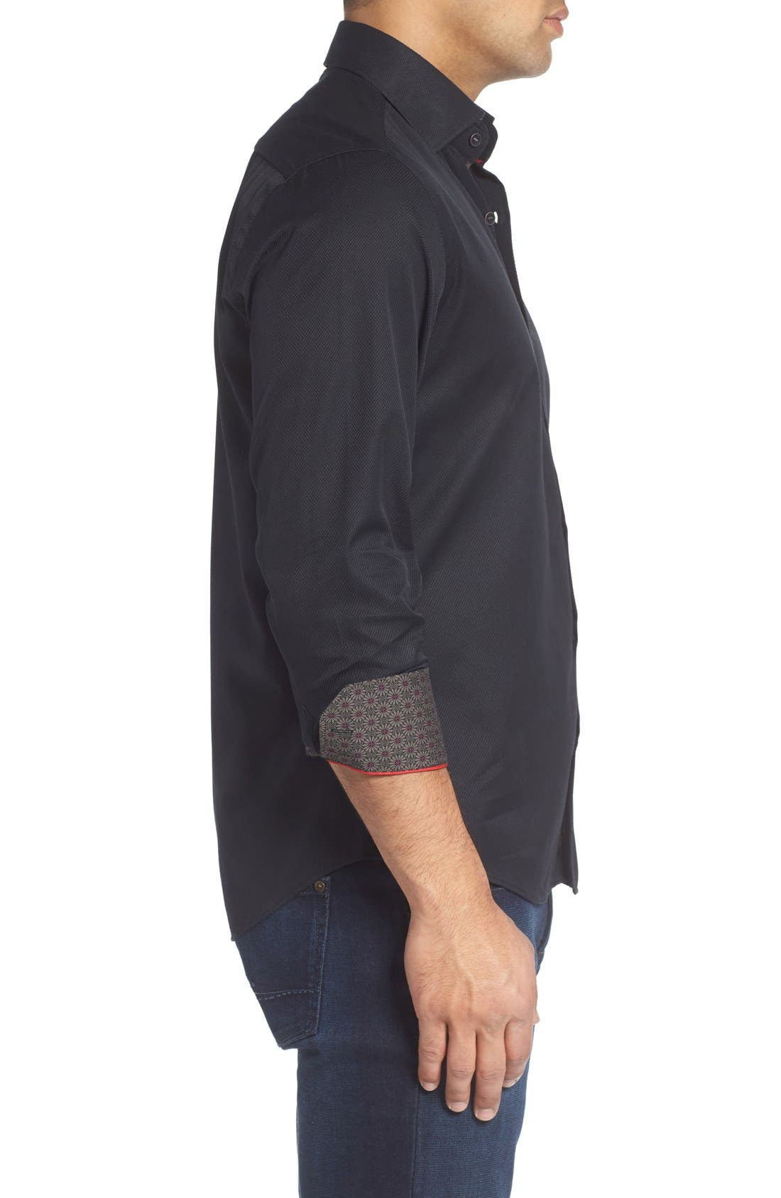 Textured Sport Shirt,                             Alternate thumbnail 3, color,                             001