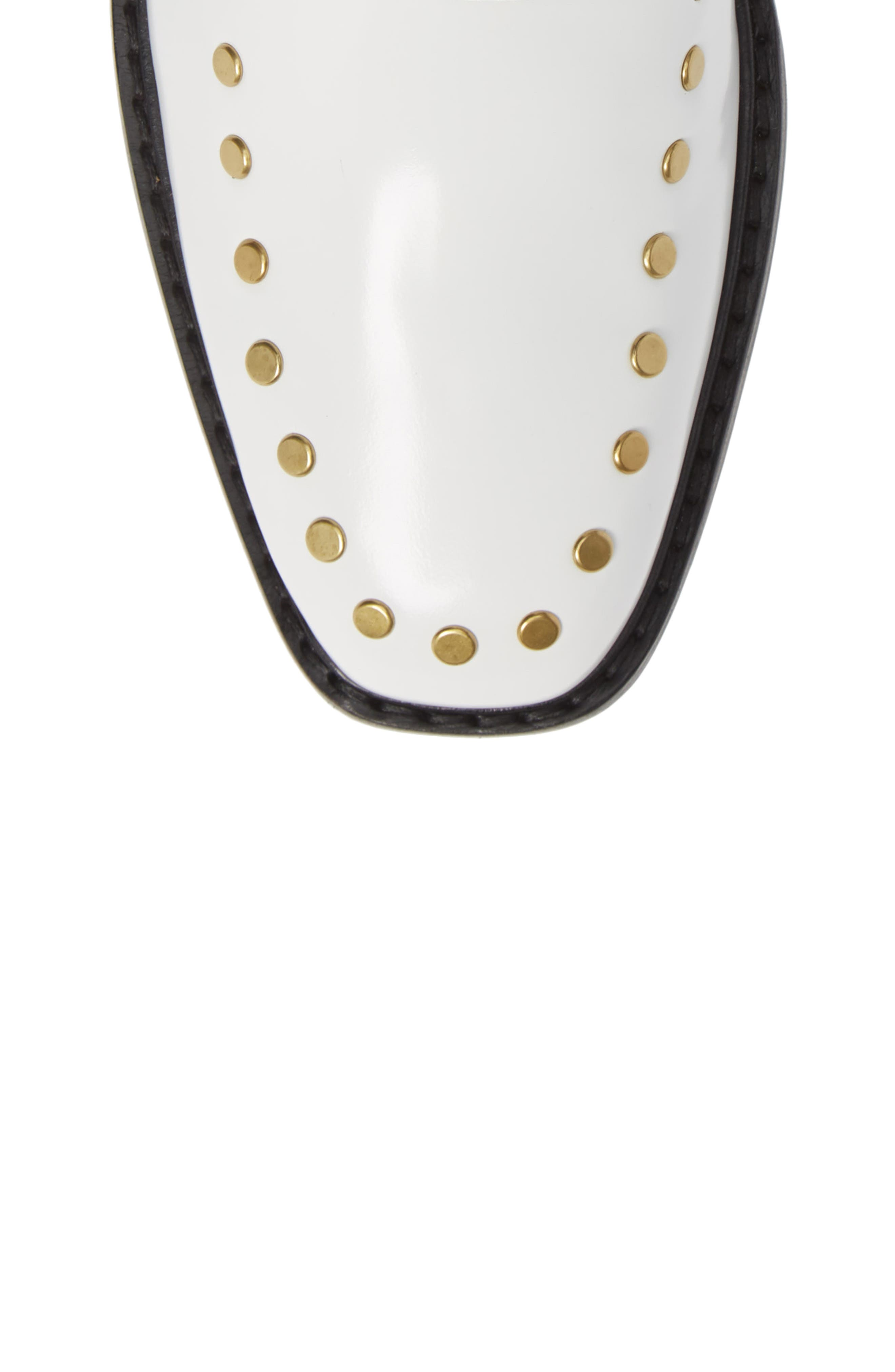 Nora Studded Chelsea Boot,                             Alternate thumbnail 5, color,                             WHITE LEATHER