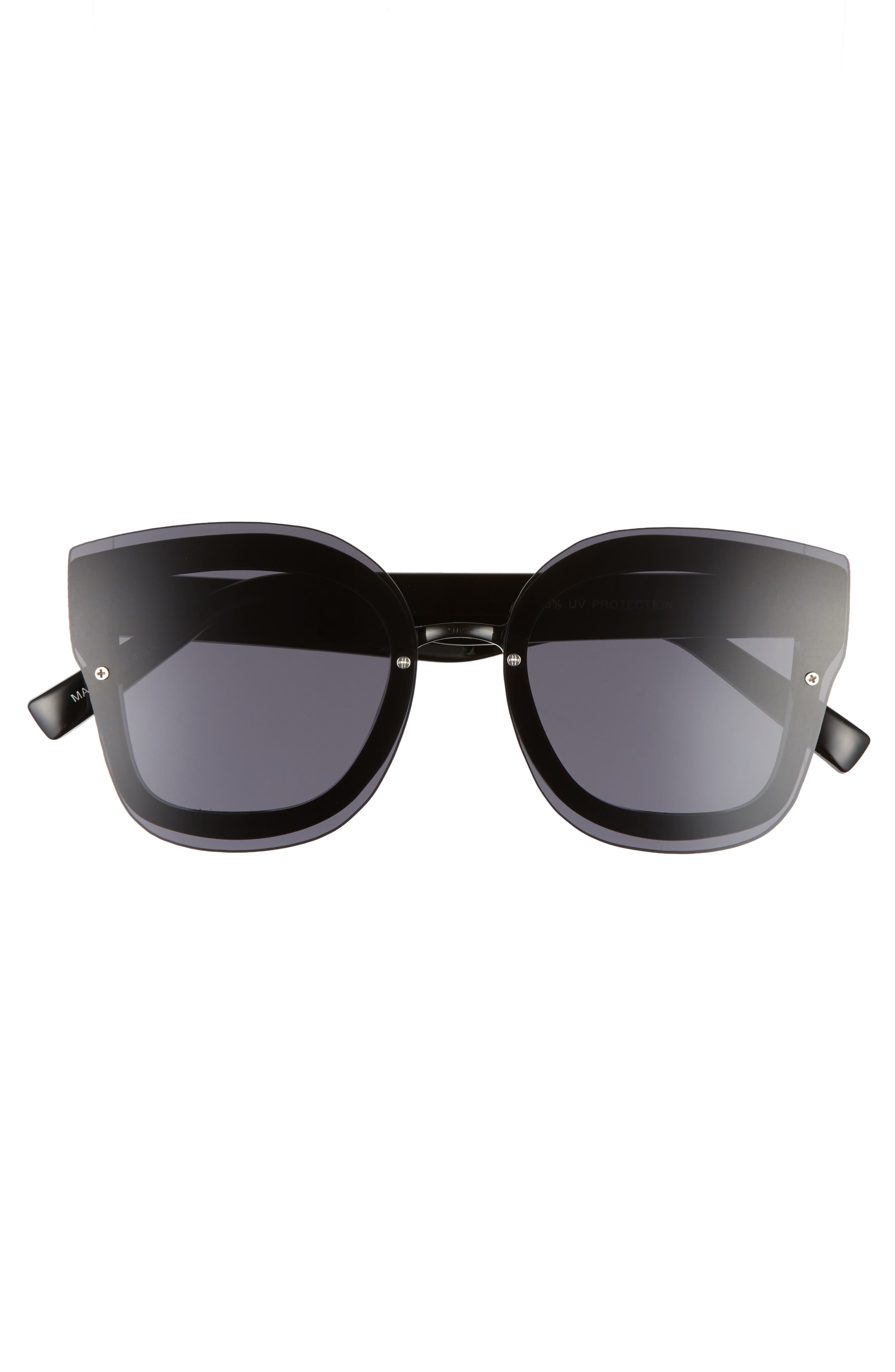 50mm Squared-Off Sunglasses,                             Alternate thumbnail 3, color,                             001