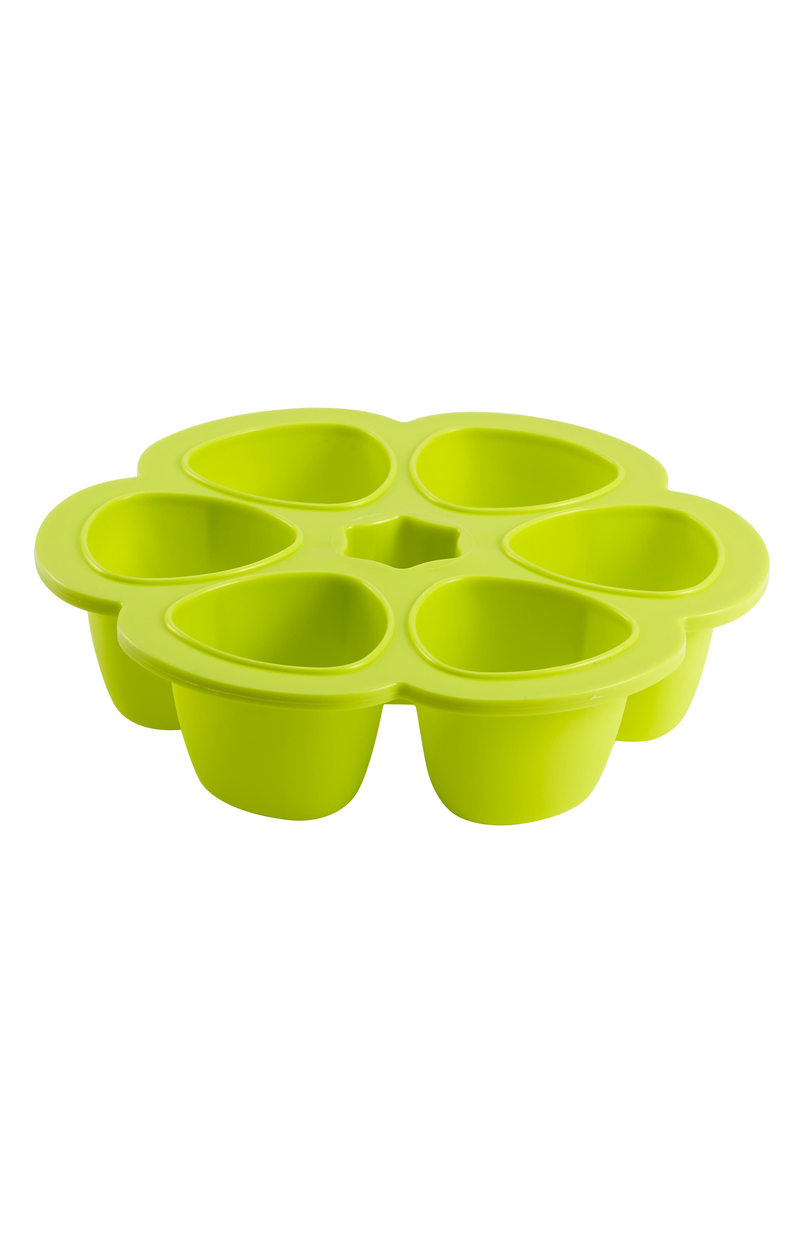 Multiportions<sup>™</sup> Silicone 5 oz. Food Cup Tray,                             Alternate thumbnail 3, color,                             NEON