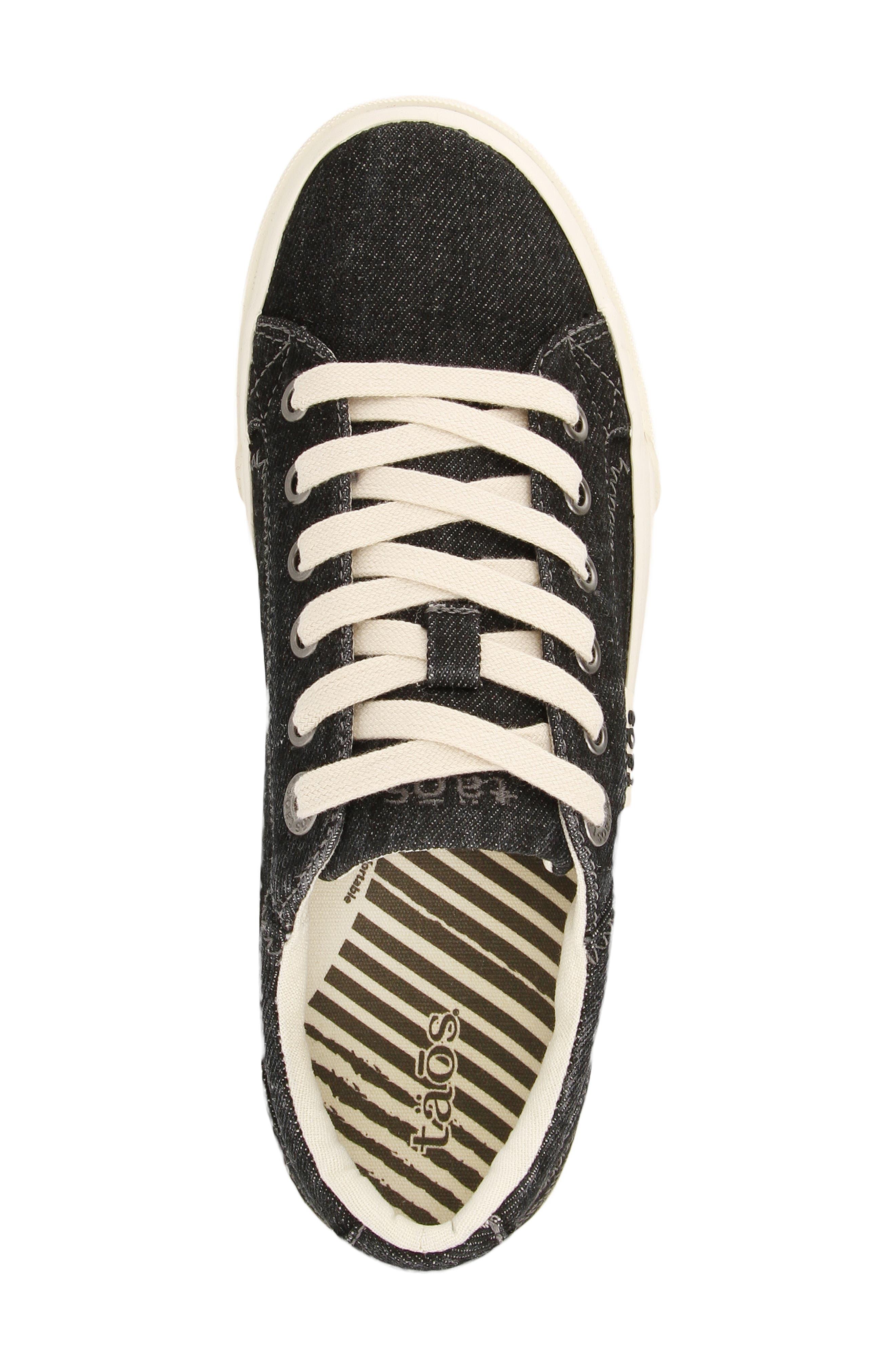Plim Soul Sneaker,                             Alternate thumbnail 4, color,                             BLACK DENIM FABRIC
