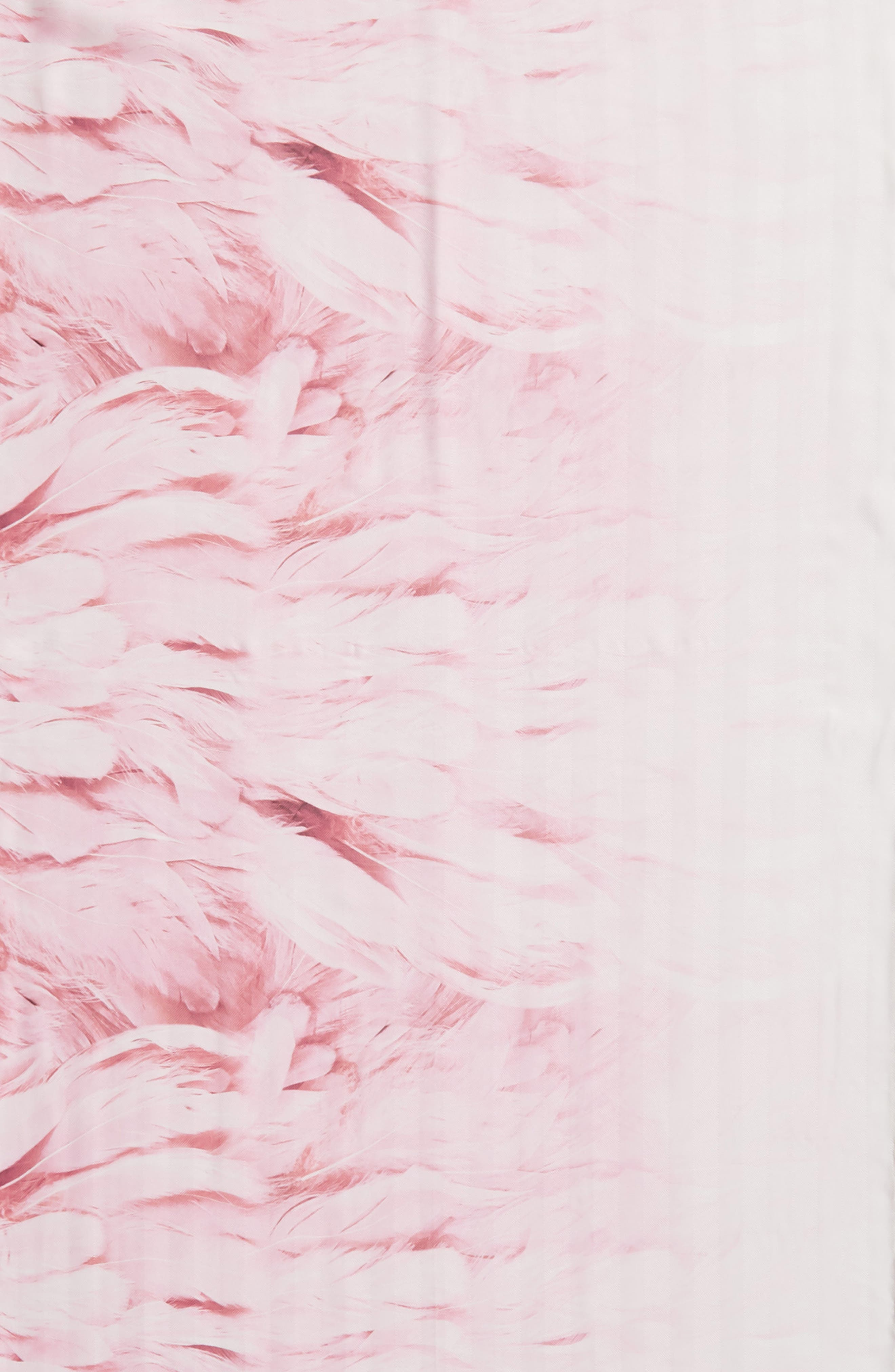 Angel Falls Long Silk Scarf,                             Alternate thumbnail 4, color,                             WHITE