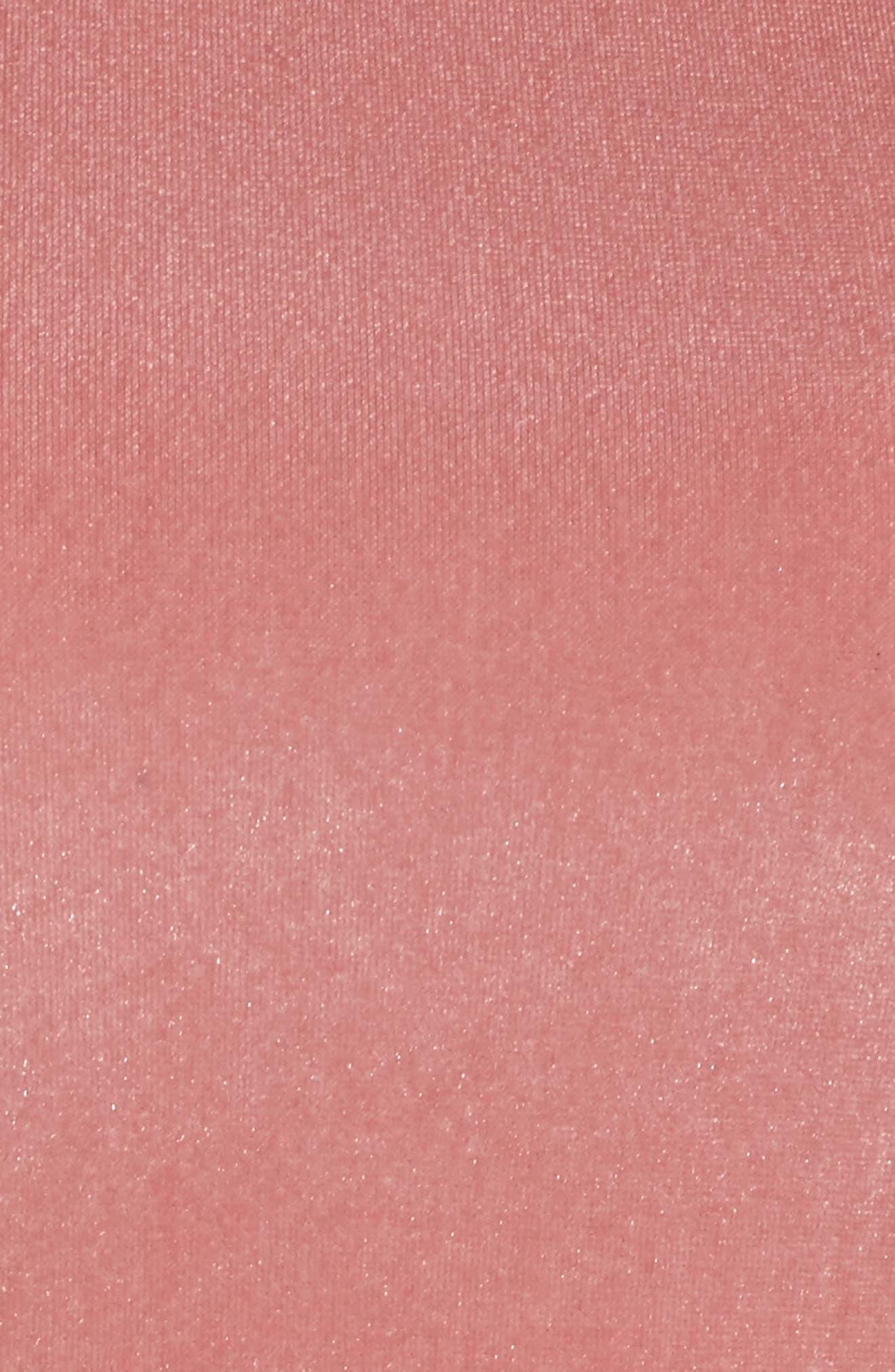 Velvet Fit & Flare Dress,                             Alternate thumbnail 10, color,