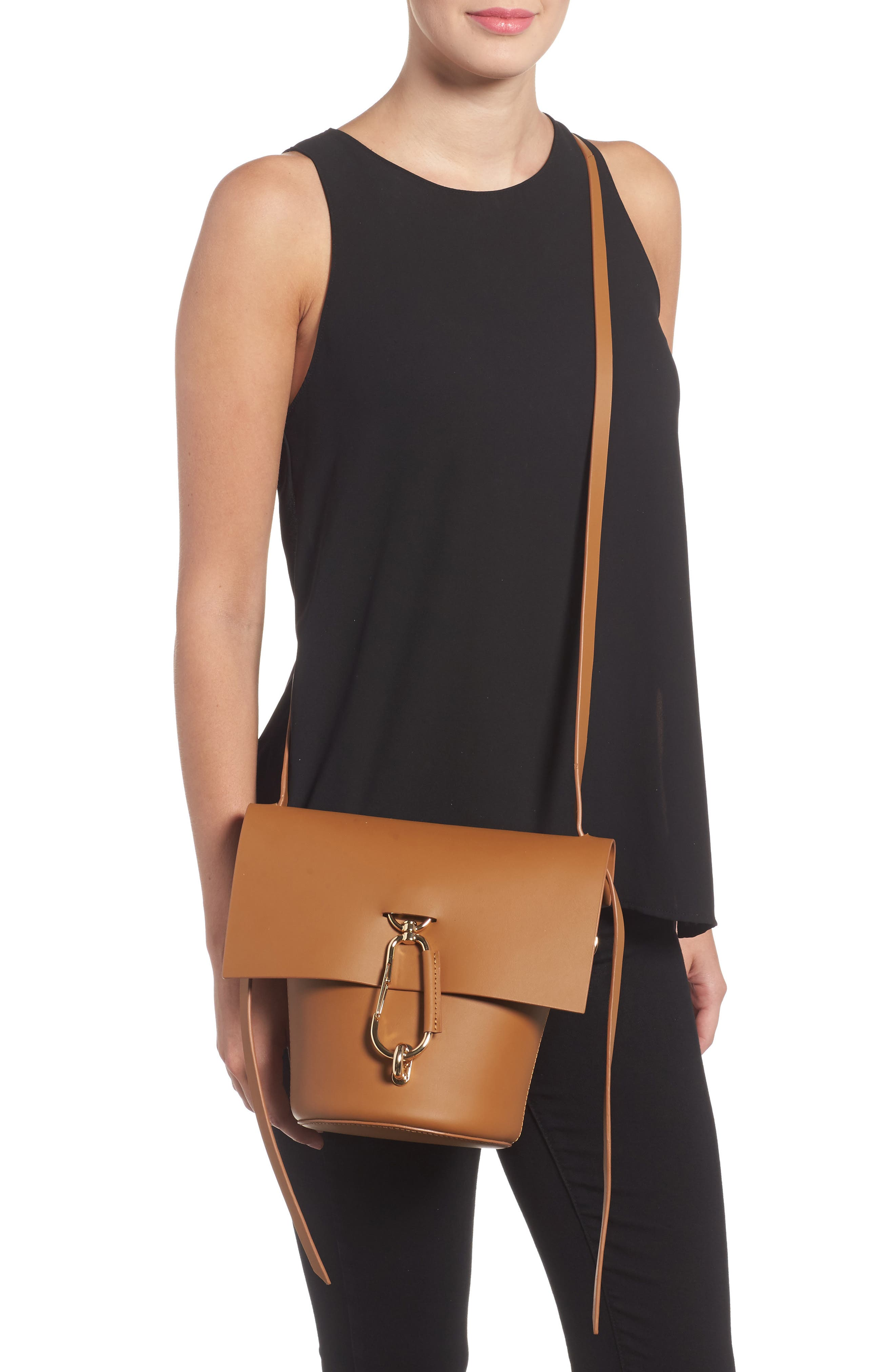 Belay Leather Crossbody Bag,                             Alternate thumbnail 8, color,
