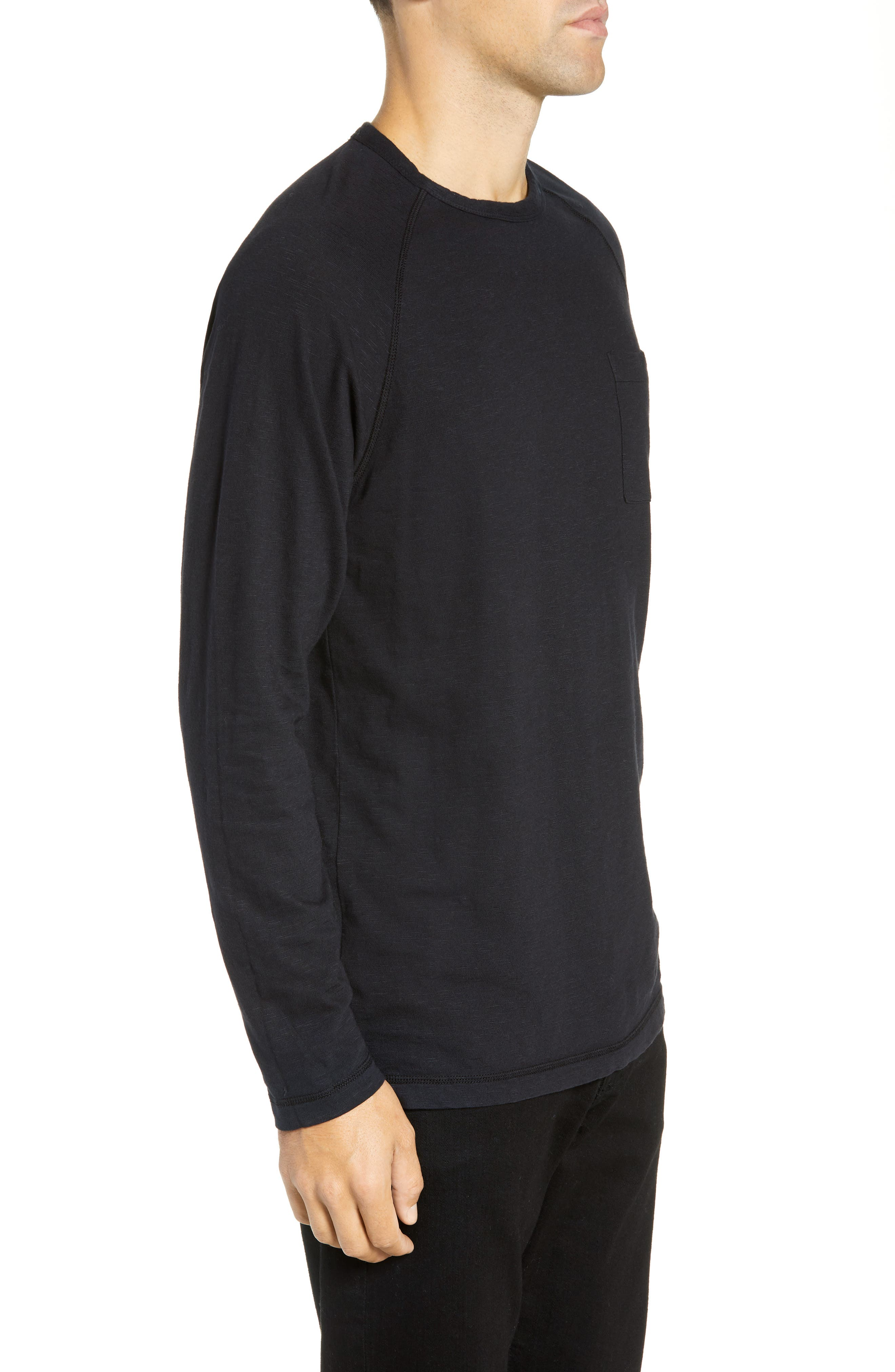 Loose Slub Knit T-Shirt,                             Alternate thumbnail 3, color,                             STRETCH LIMO