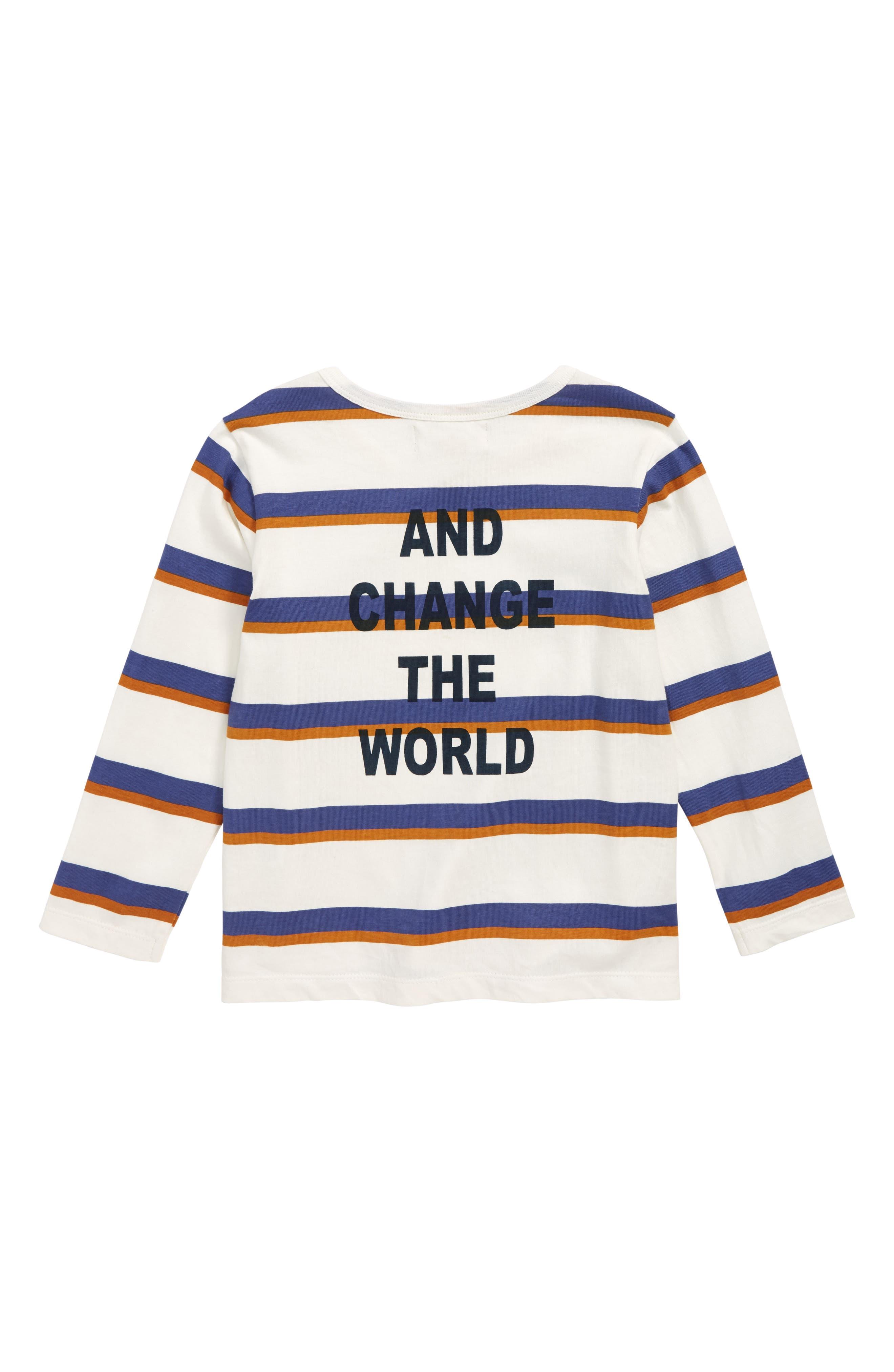 Peek Change the World Stripe Shirt,                             Alternate thumbnail 2, color,                             900