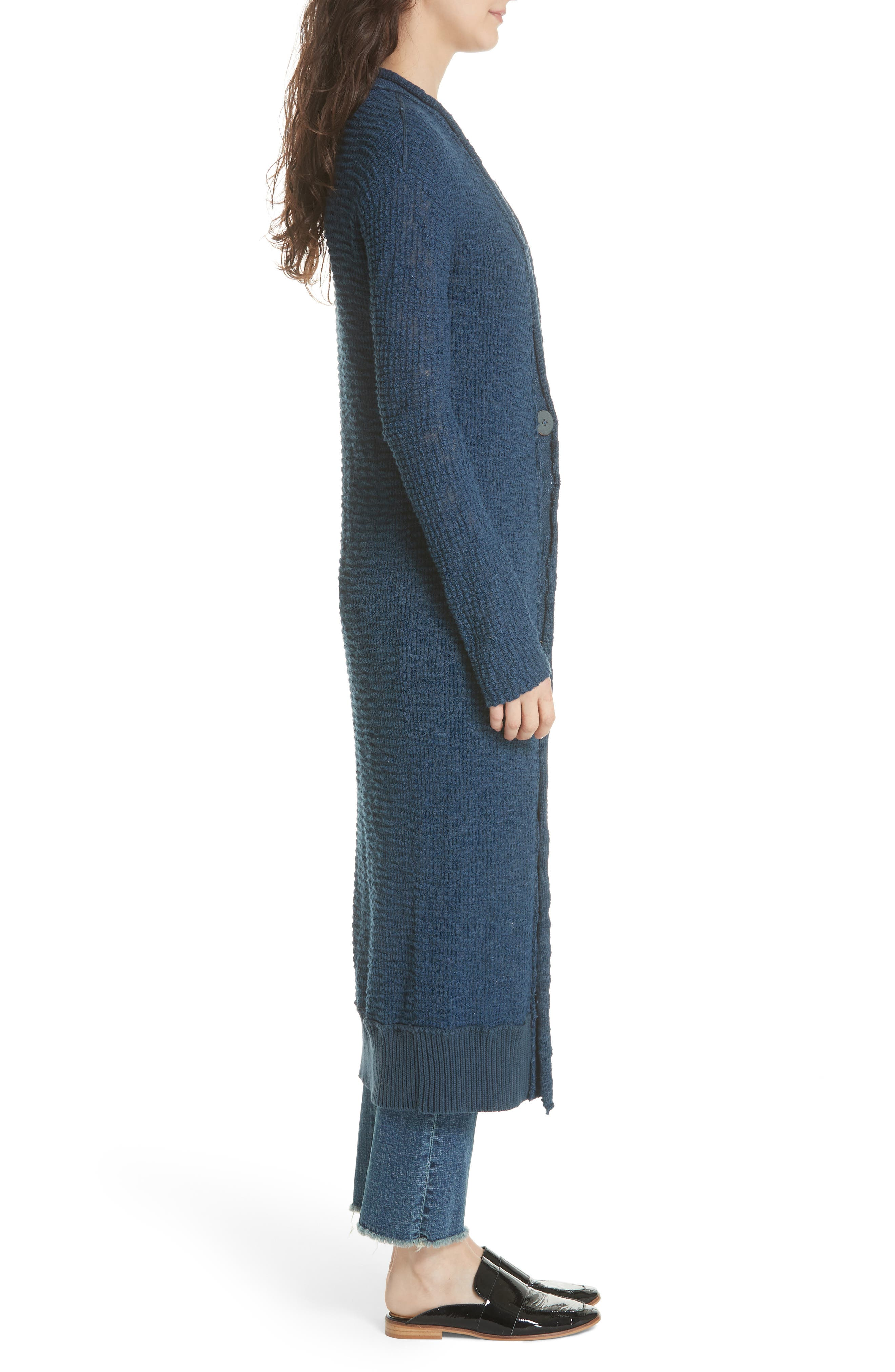 Clearwater Long Cardigan,                             Alternate thumbnail 3, color,                             410