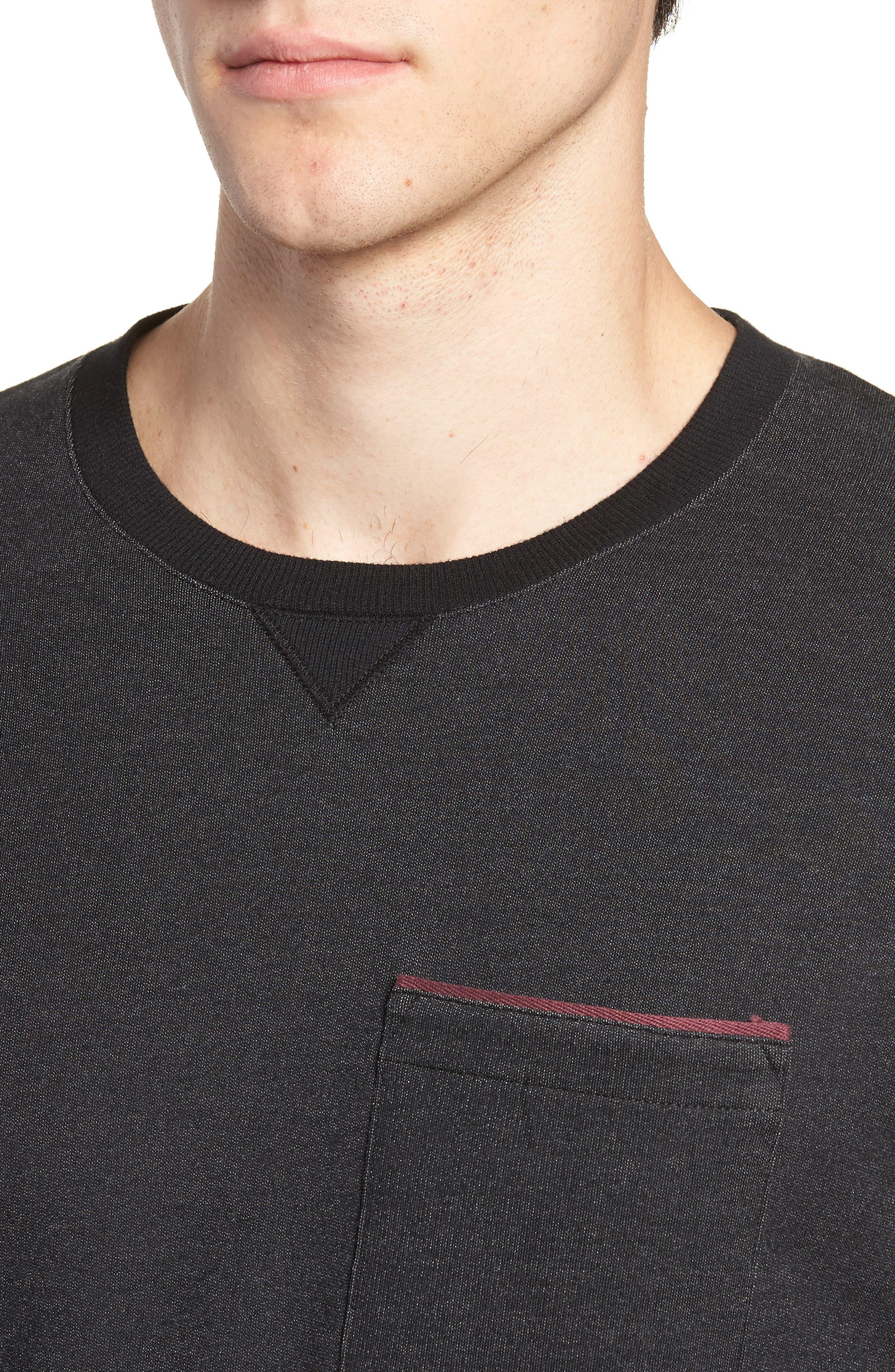Lanegan Long Sleeve T-Shirt,                             Alternate thumbnail 4, color,                             BLACK/ WINETASTING