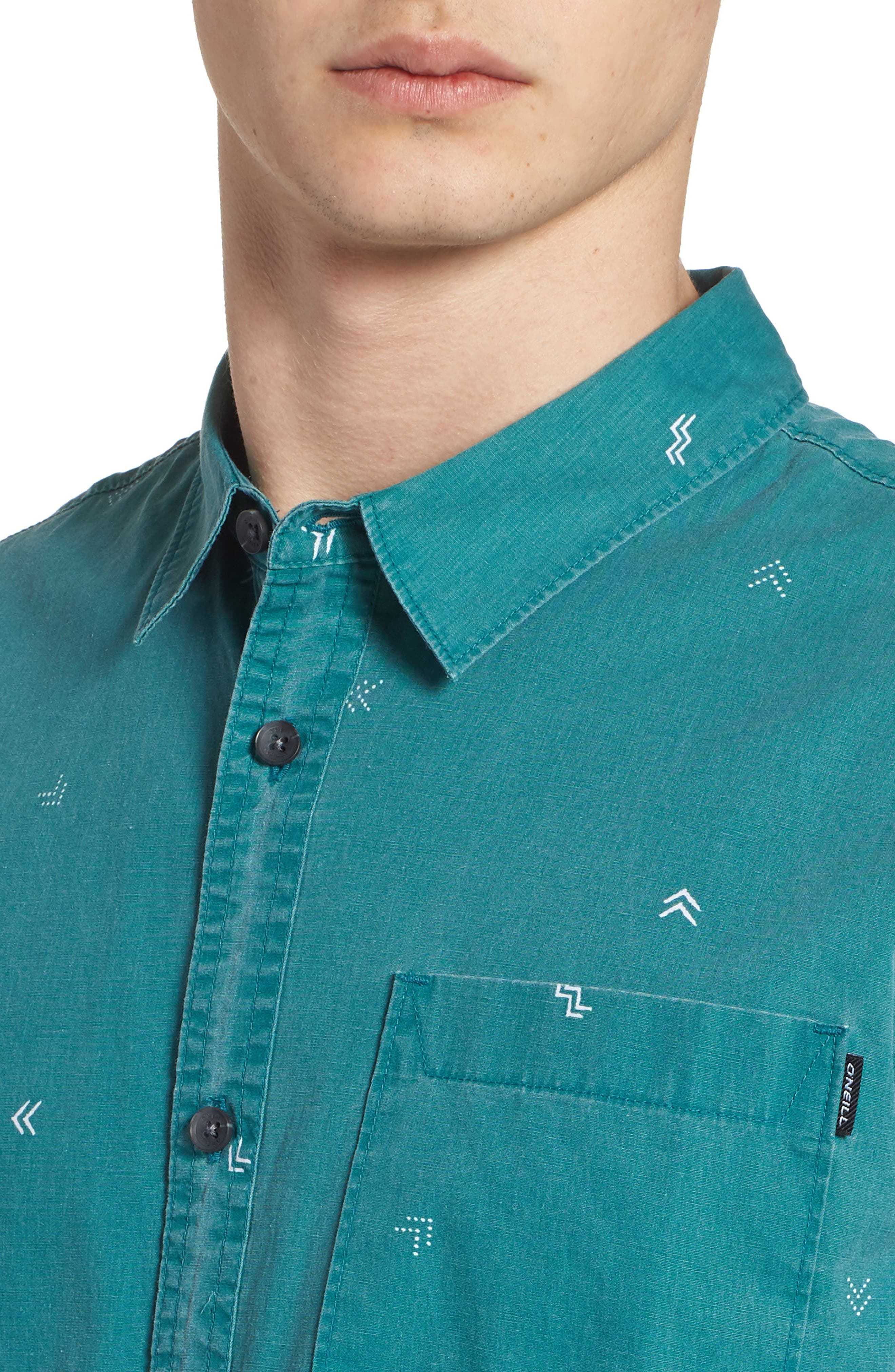 Kruger Woven Shirt,                             Alternate thumbnail 4, color,                             JADE