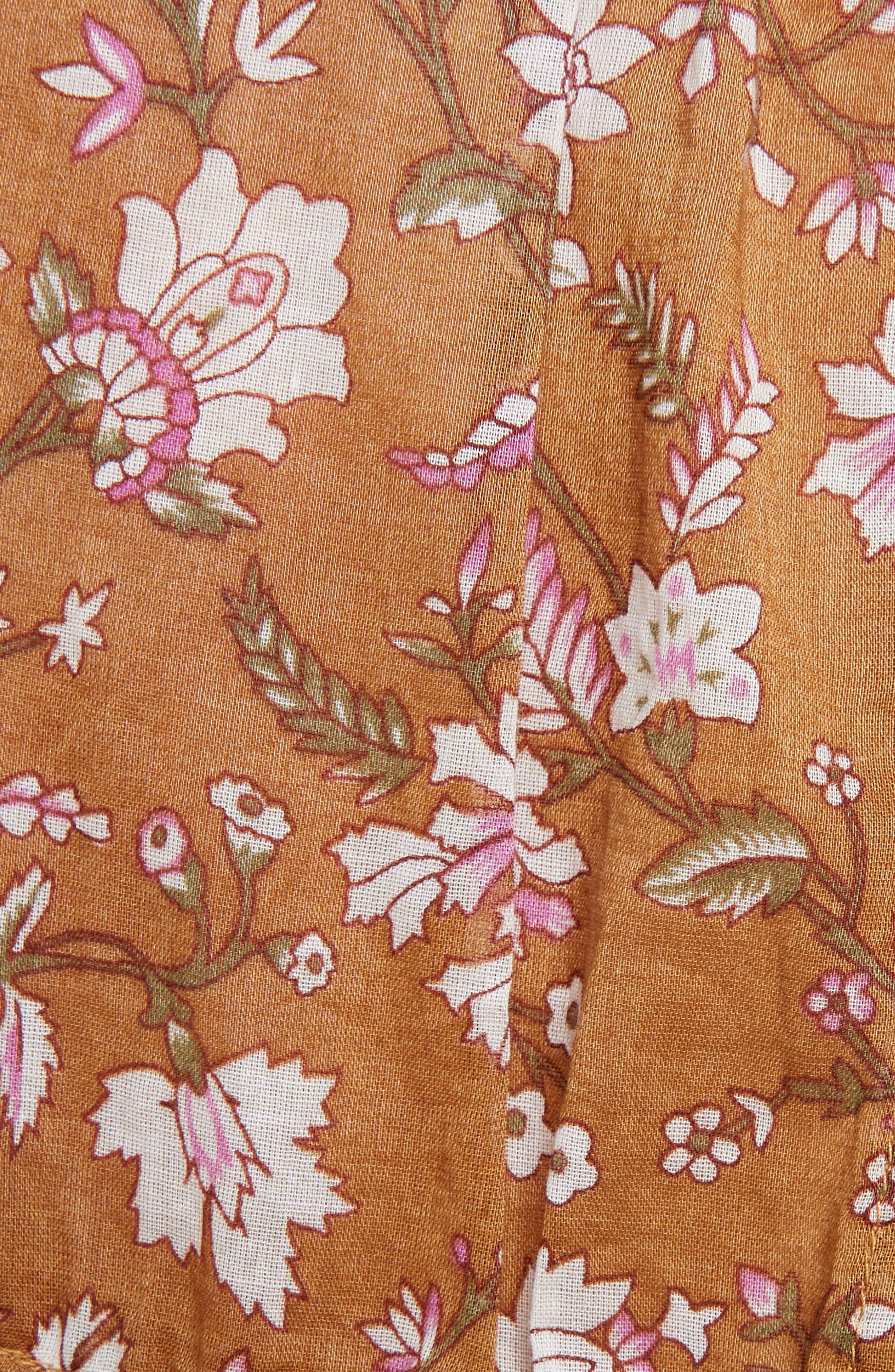 Isabel Marant Étoile Maiwenn Floral Print Cotton Dress,                             Alternate thumbnail 5, color,                             800
