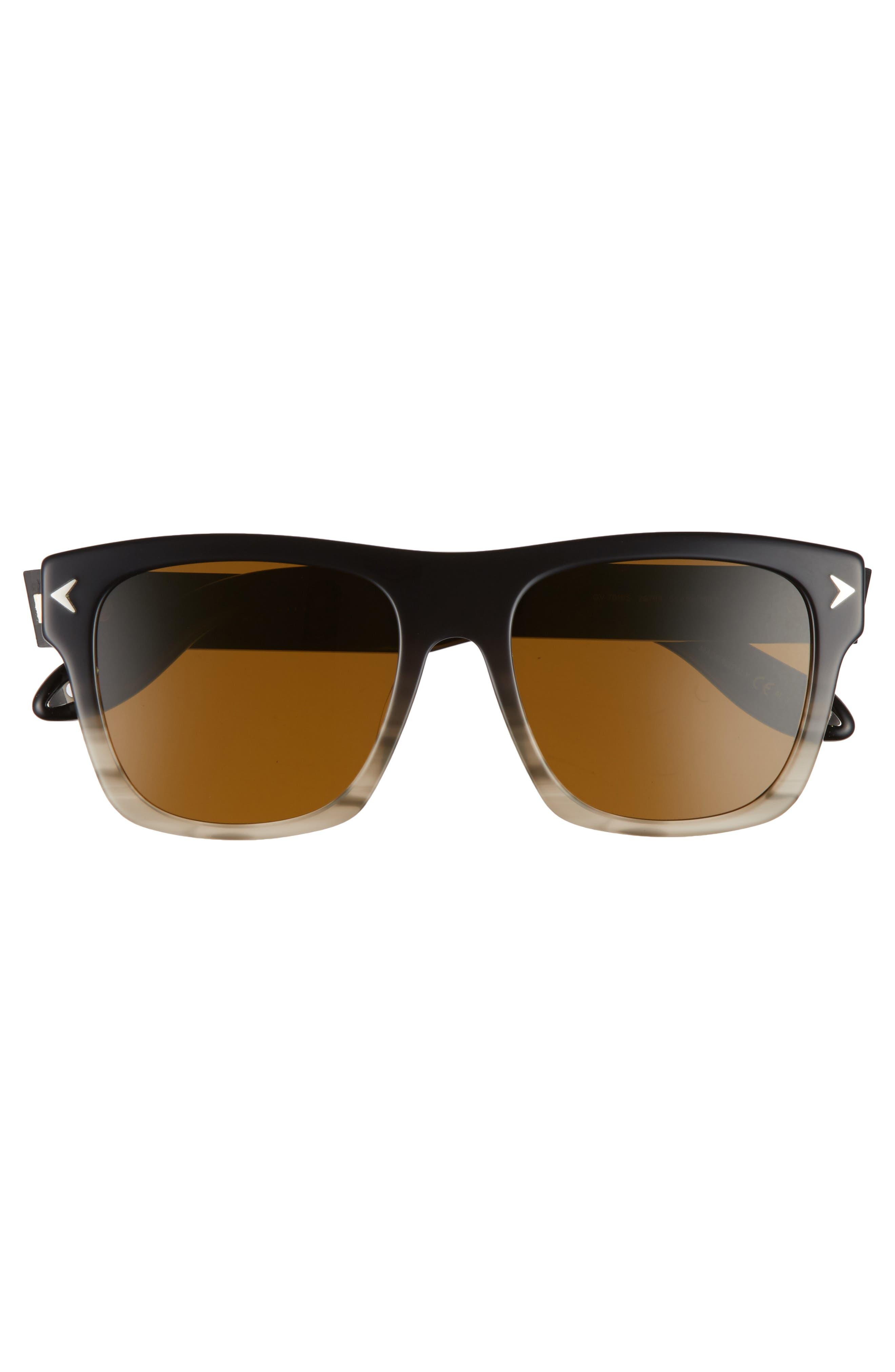 55mm Square Sunglasses,                             Alternate thumbnail 3, color,                             020