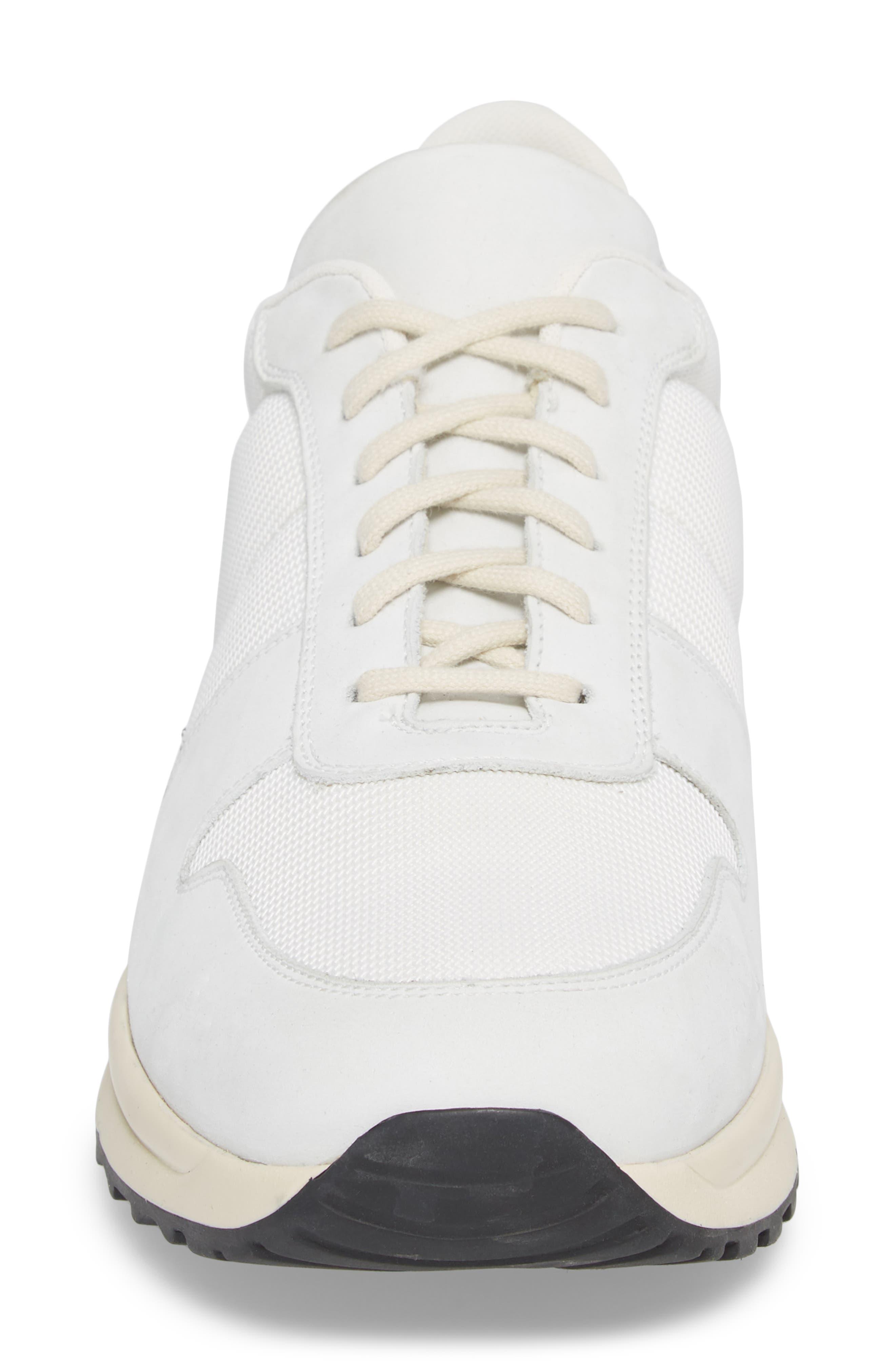 Track Vintage Sneaker,                             Alternate thumbnail 4, color,                             WHITE