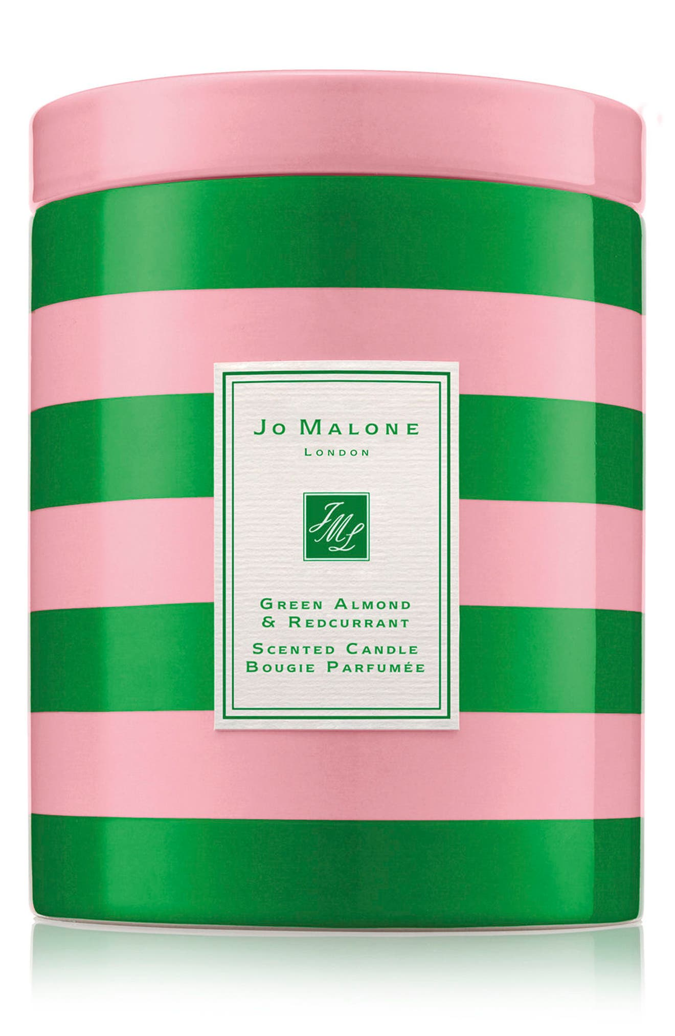 Green Almond & Redcurrant Scented Candle,                             Main thumbnail 1, color,                             000