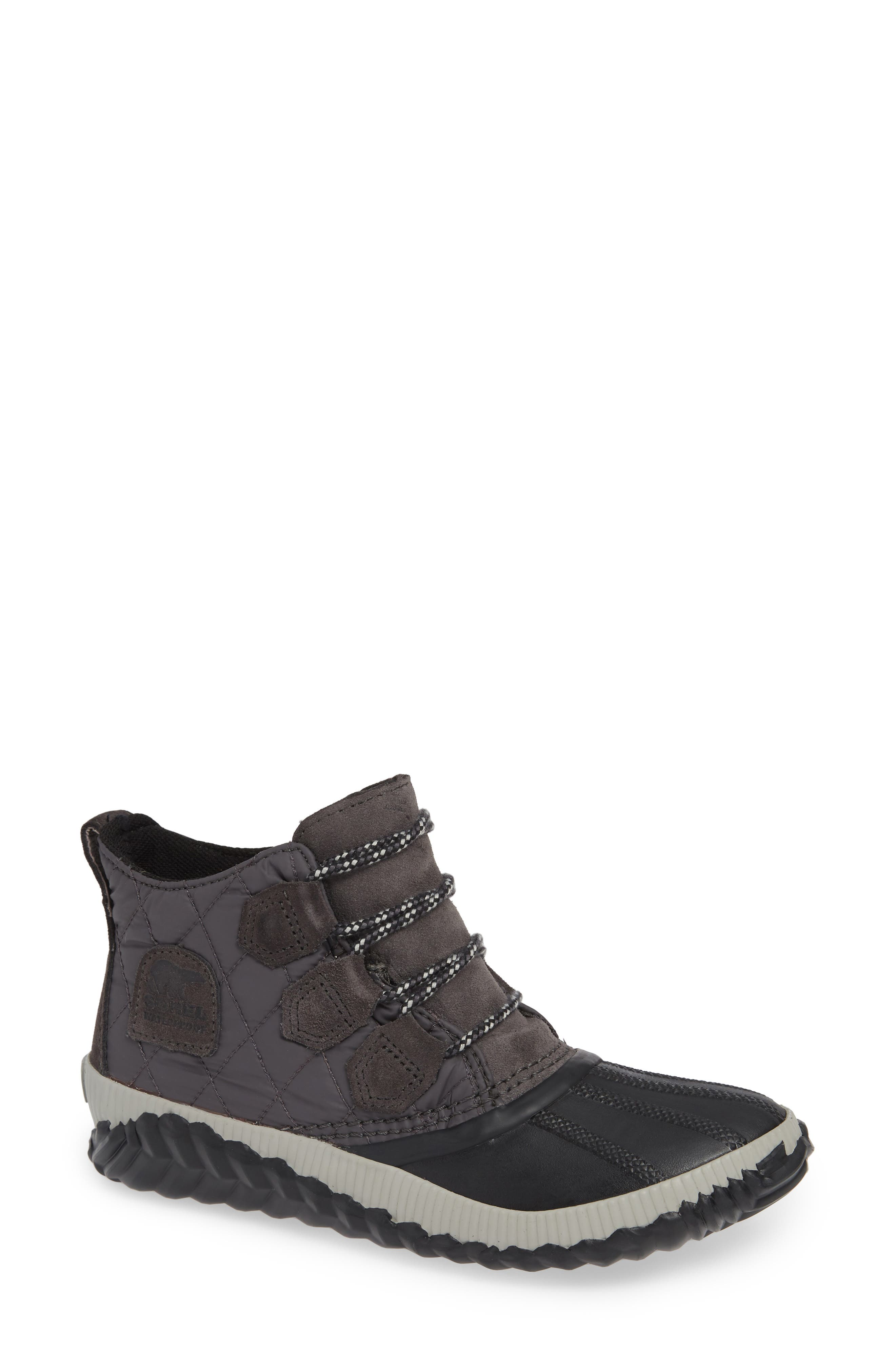 Out N About Plus Camp Waterproof Bootie,                             Main thumbnail 1, color,                             SLATE GREY/ BLACK