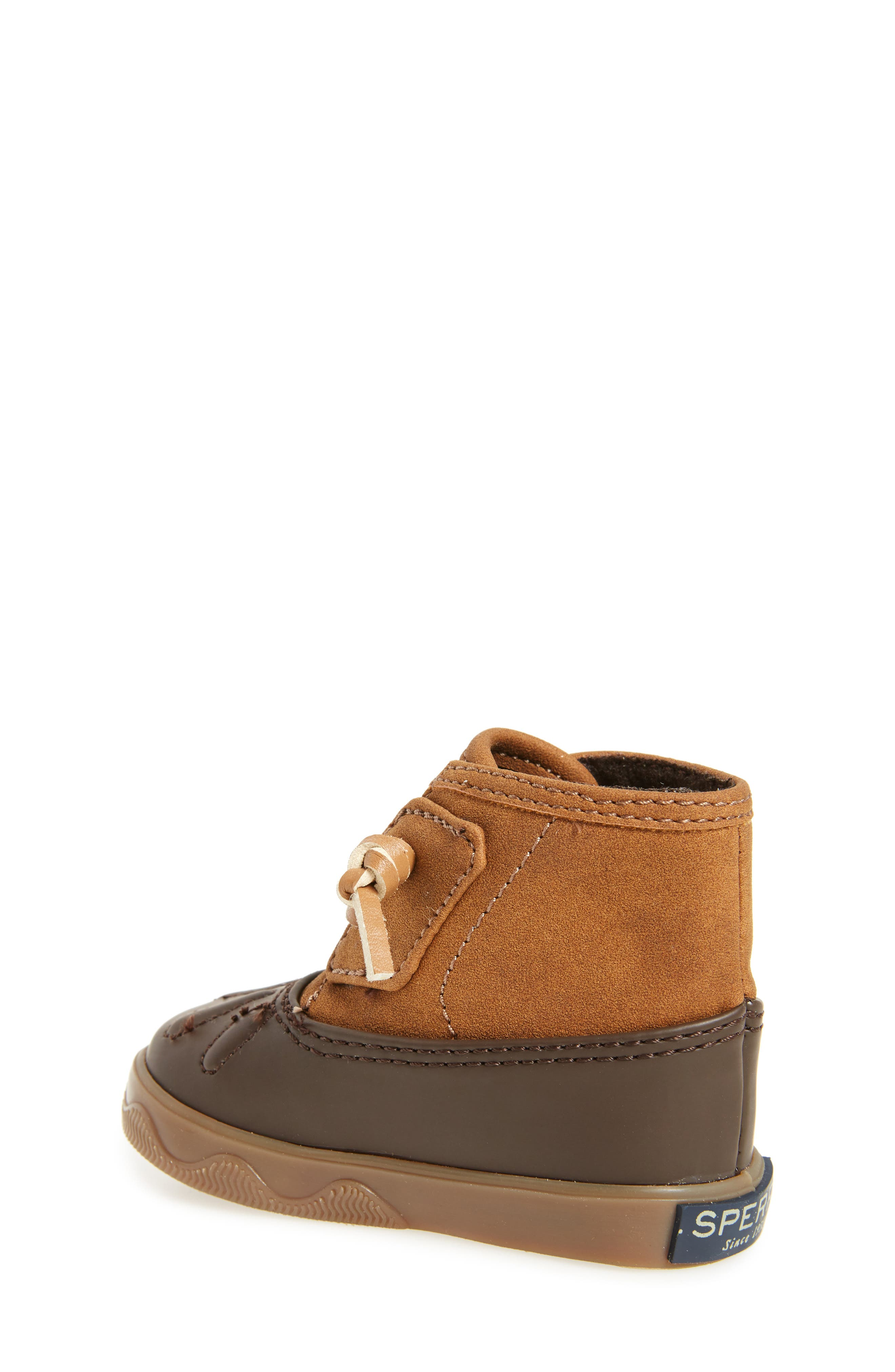 Sperry Icestorm Crib Duck Bootie,                             Alternate thumbnail 2, color,                             TAN/ BROWN