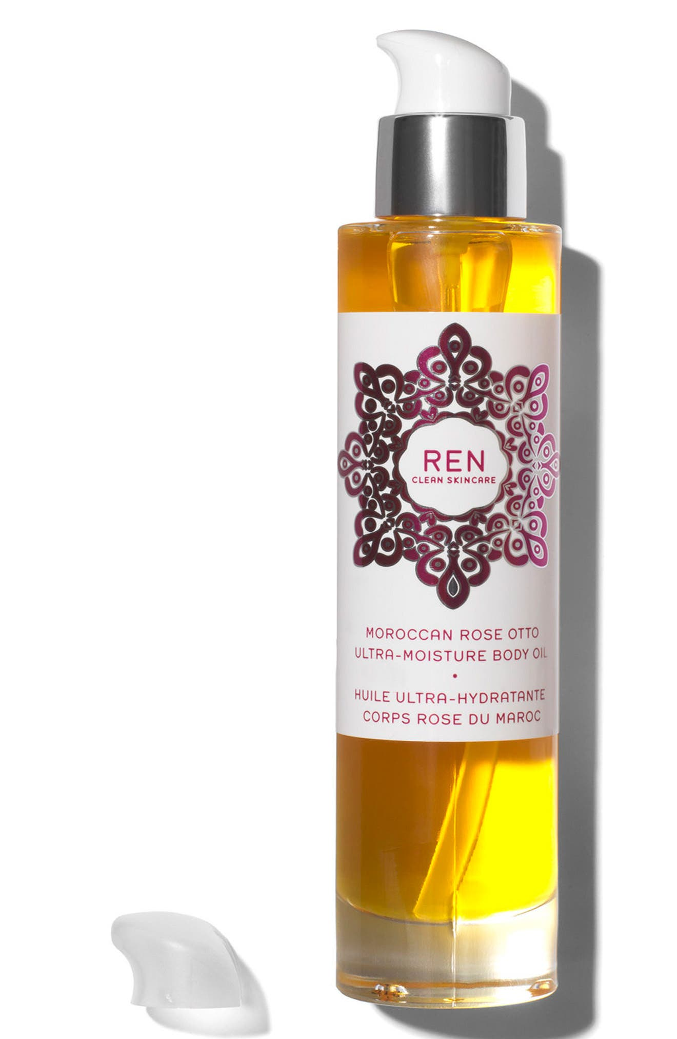 SPACE.NK.apothecary REN Moroccan Rose Ultra-Moisture Body Oil,                             Alternate thumbnail 3, color,                             NO COLOR