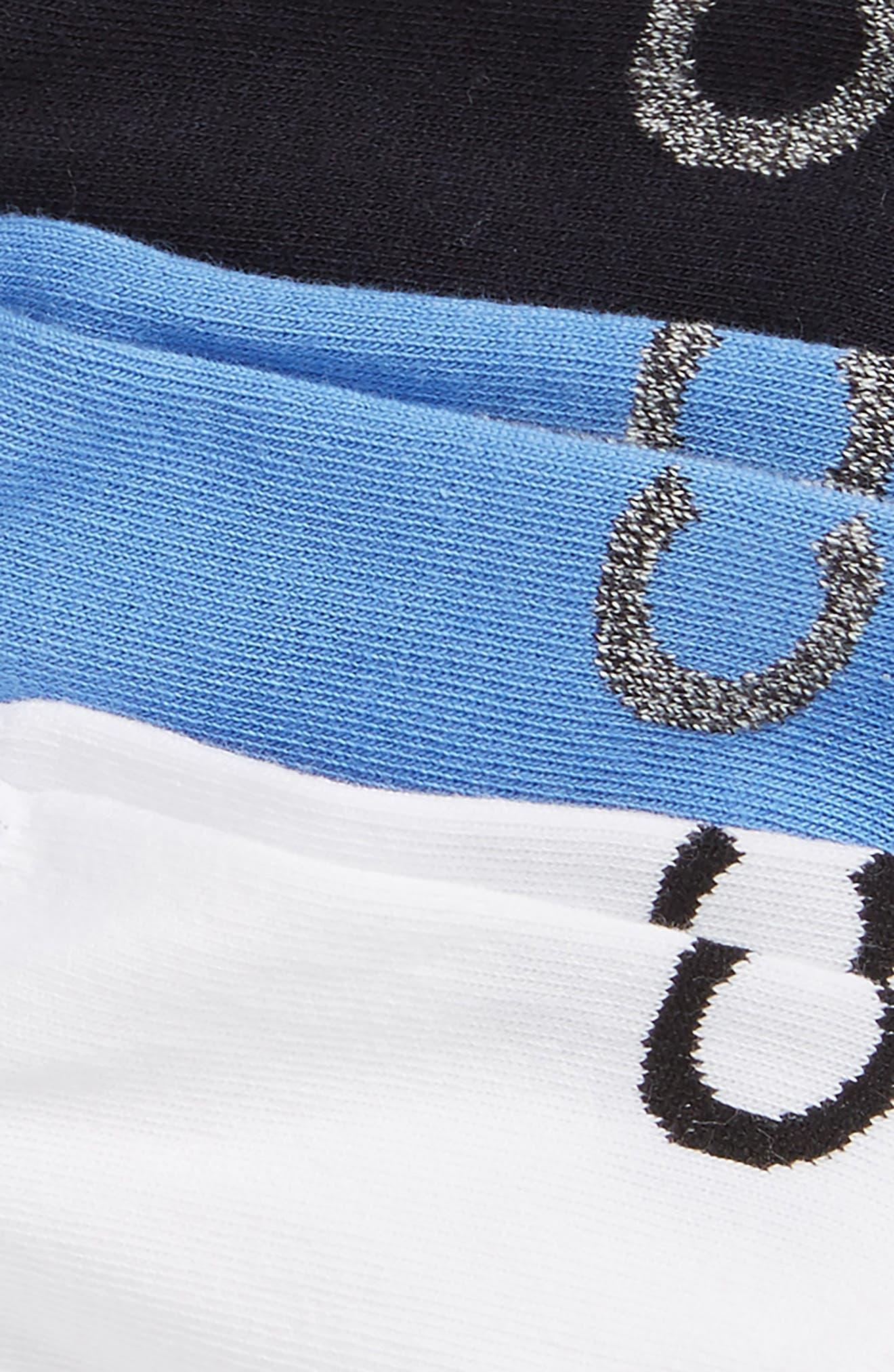 3-Pack No-Show Socks,                             Alternate thumbnail 2, color,                             ULTRAMARINE/ NAVY/ WHITE