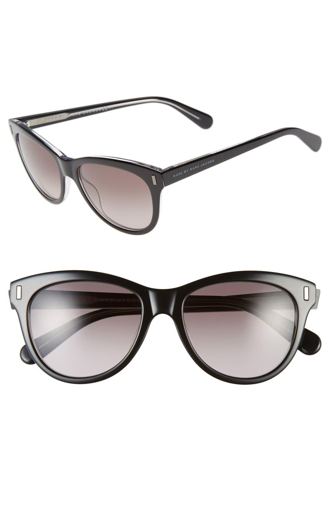 53mm Retro Sunglasses,                         Main,                         color, 001