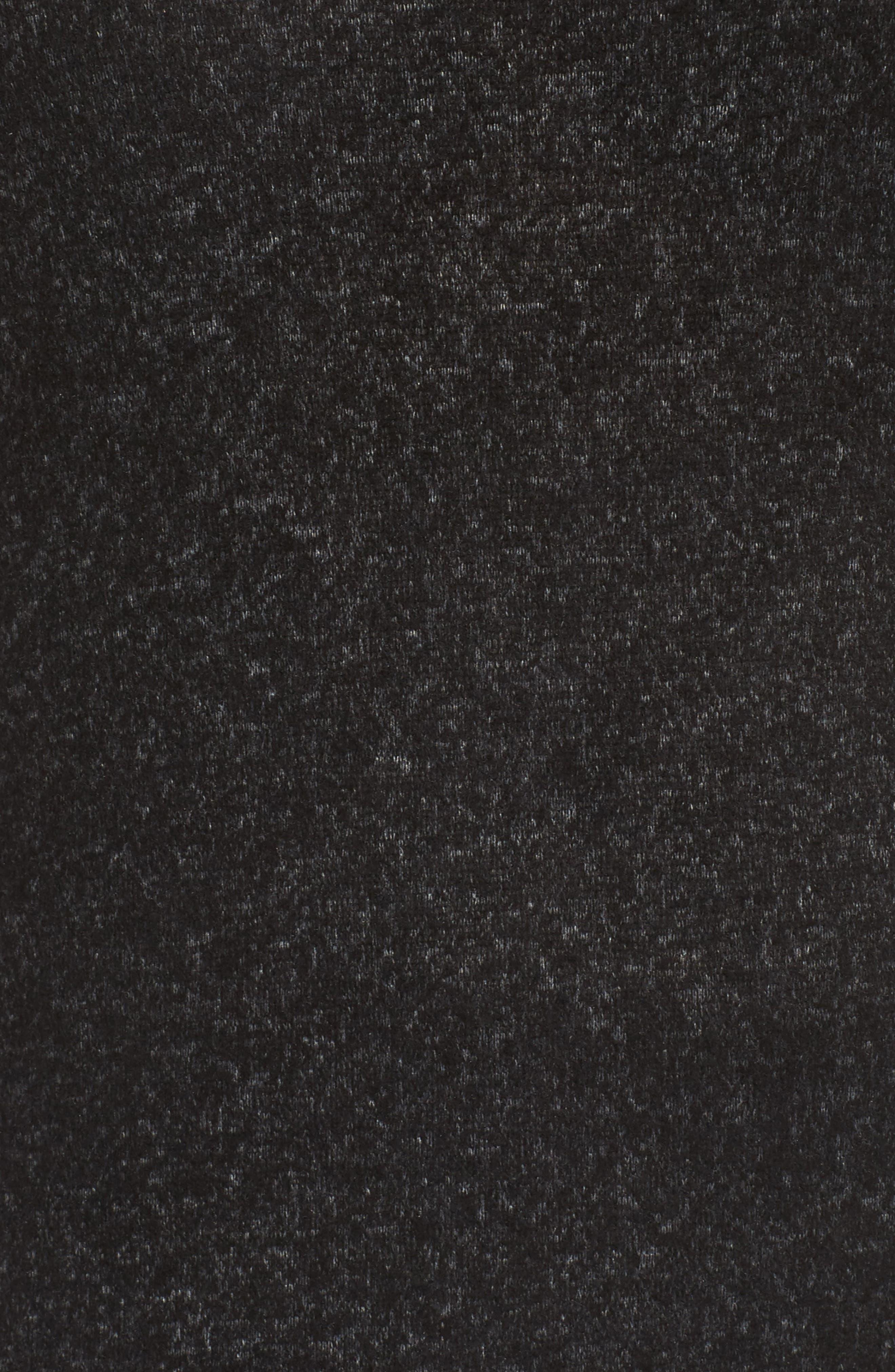 Peplum Hem Hoodie Dress,                             Alternate thumbnail 5, color,                             001