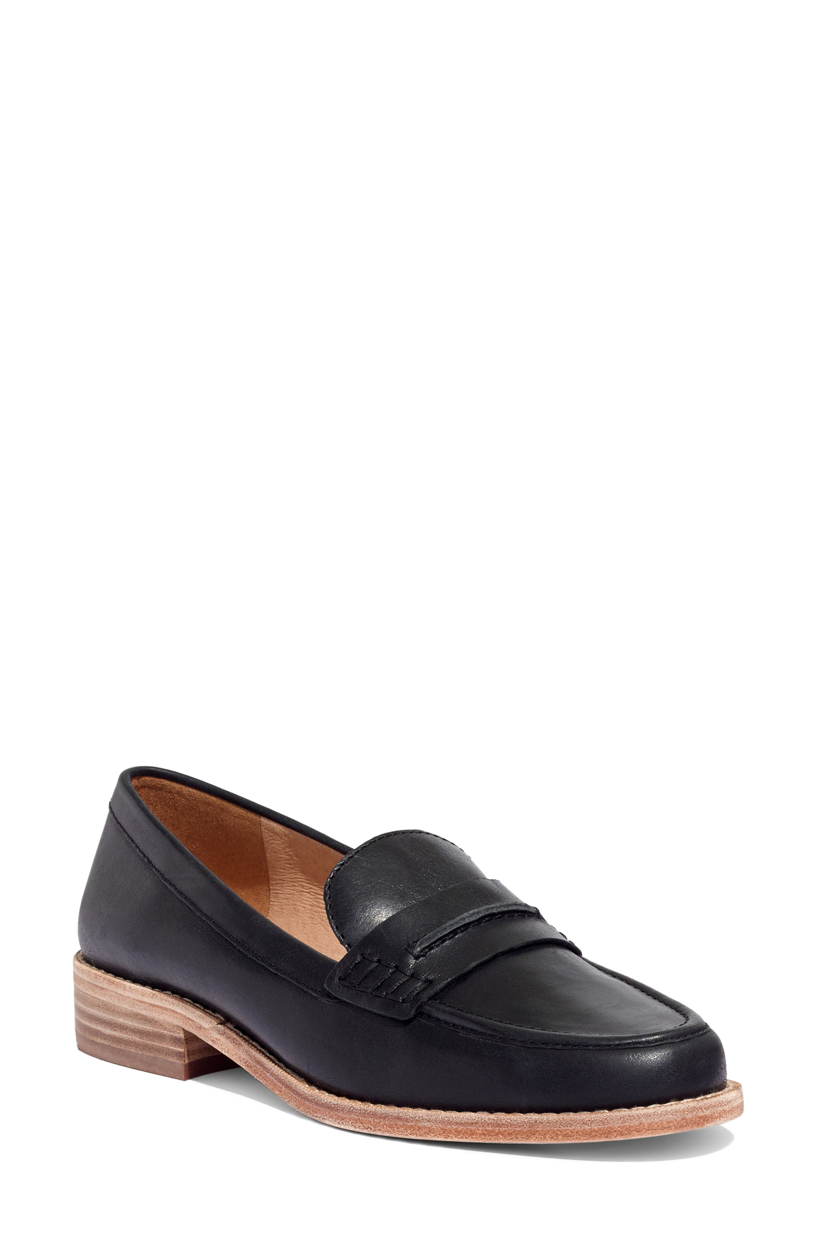 The Elinor Loafer,                             Main thumbnail 1, color,                             BLACK LEATHER