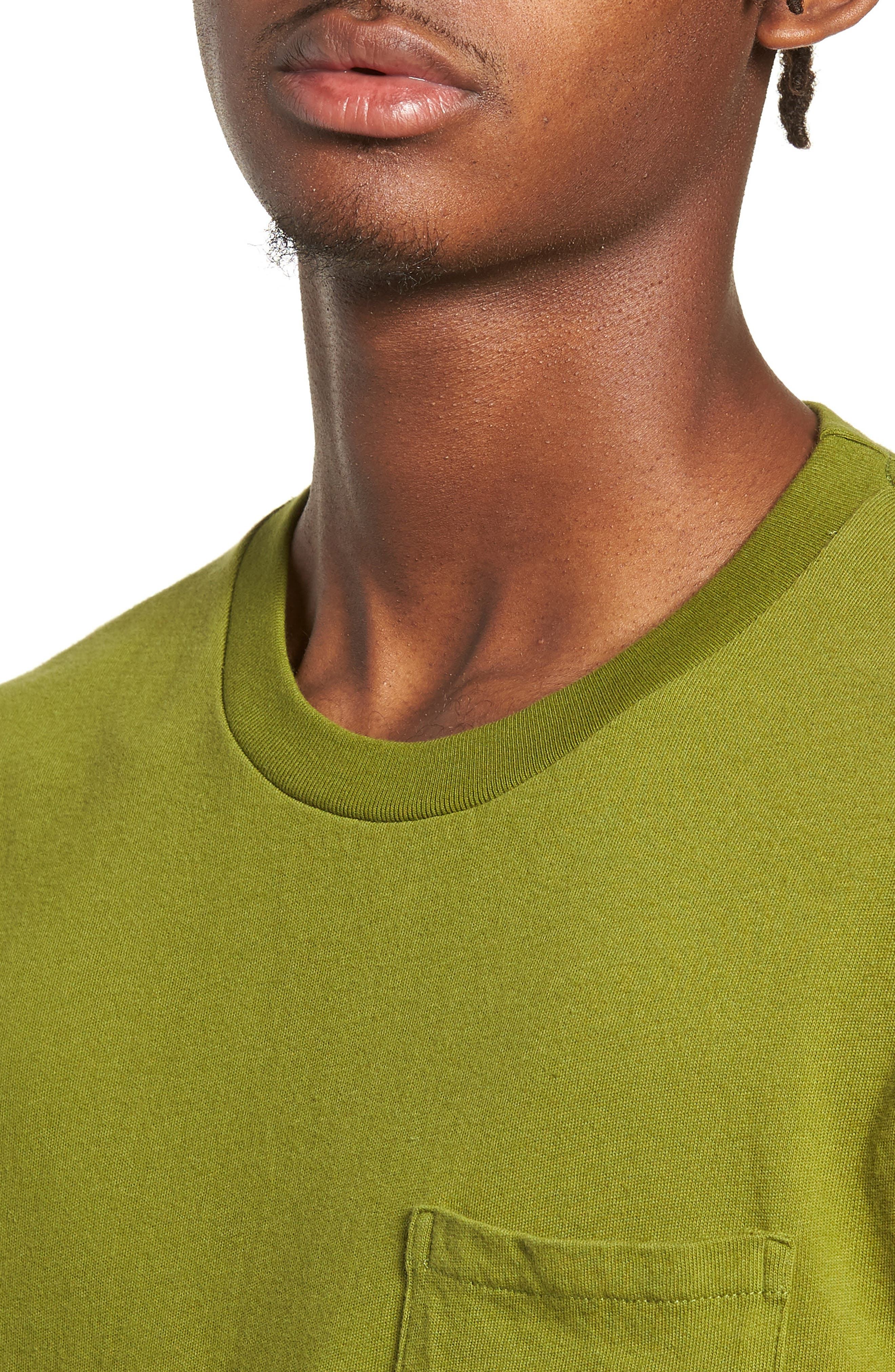 1950s Slim Fit Colorblock T-Shirt,                             Alternate thumbnail 4, color,                             3 WAY MULTI STRIPE
