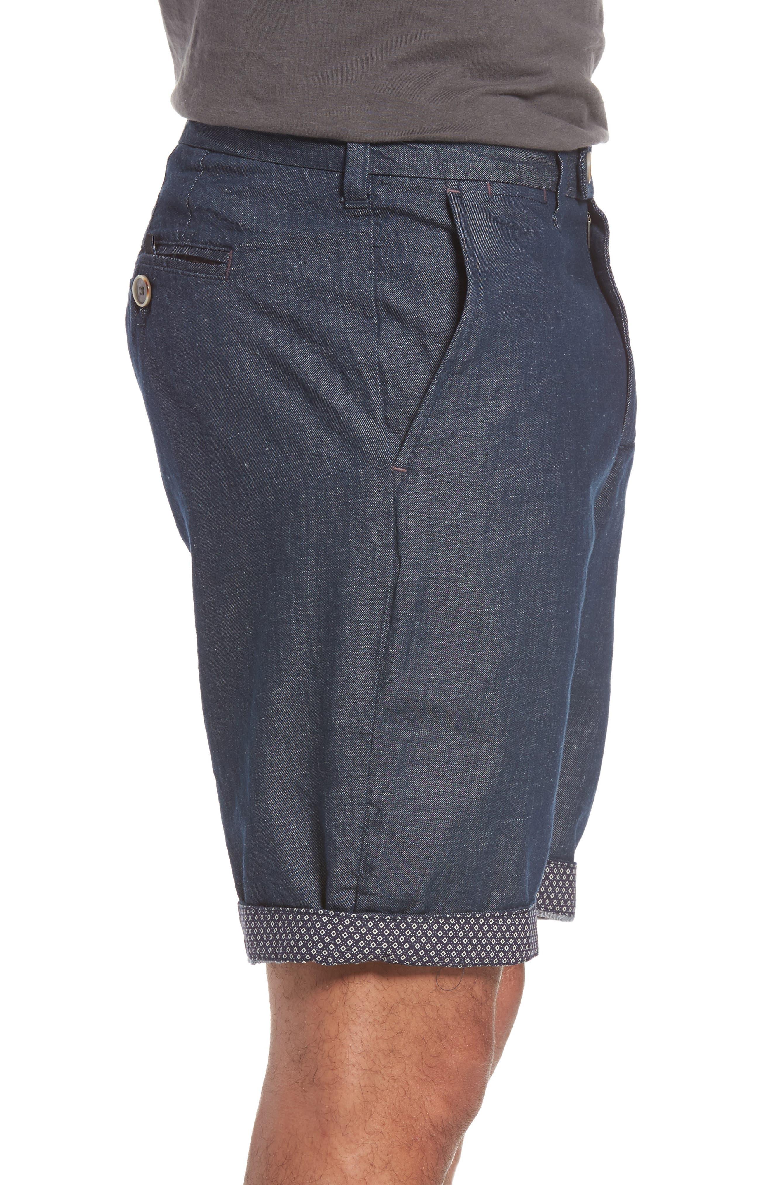 Frisho Cuff Denim Shorts,                             Alternate thumbnail 6, color,