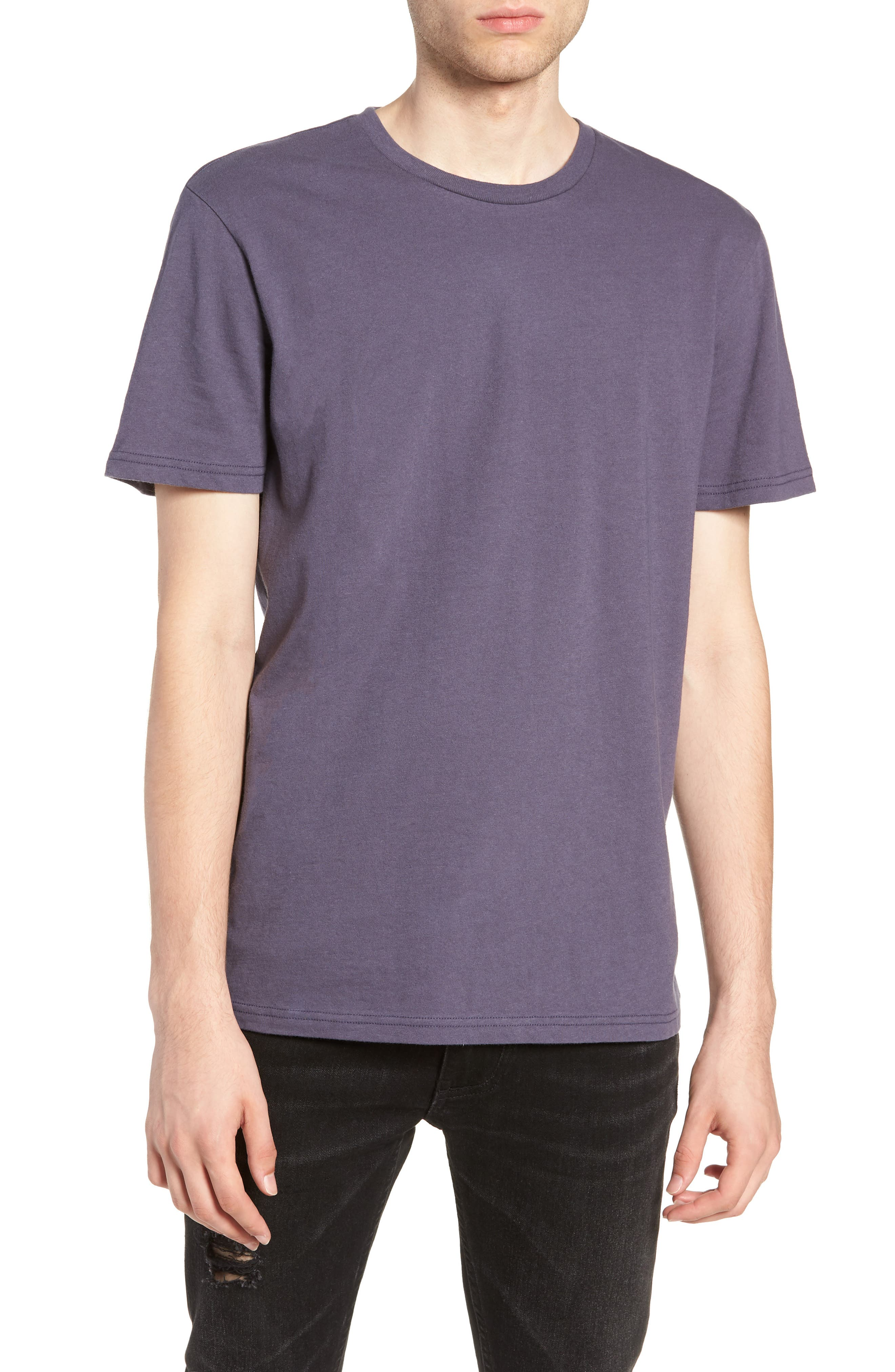 Slim Fit Crewneck T-Shirt,                         Main,                         color, GREY STONE