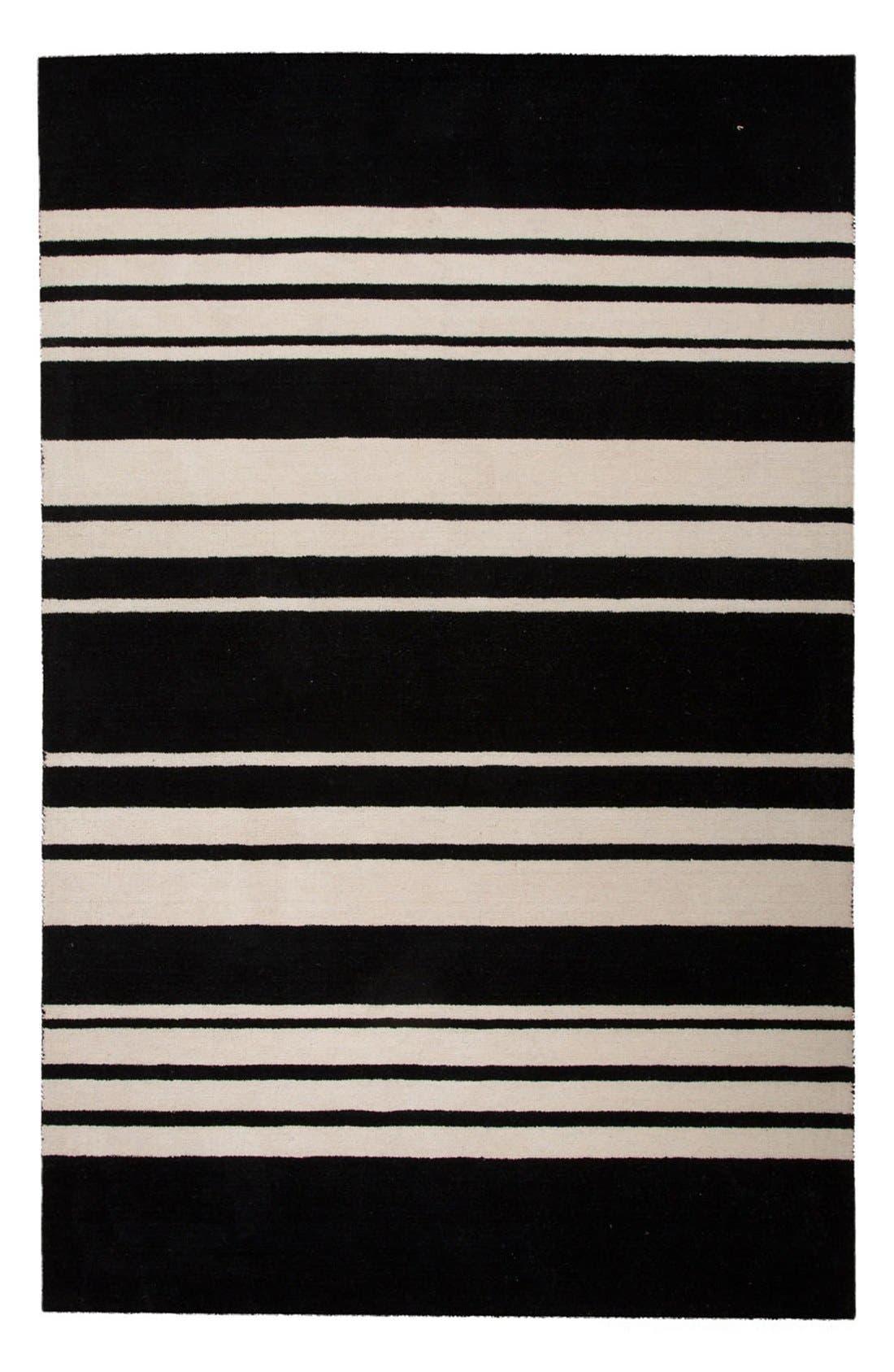 'astor stripe' wool rug,                         Main,                         color, 001