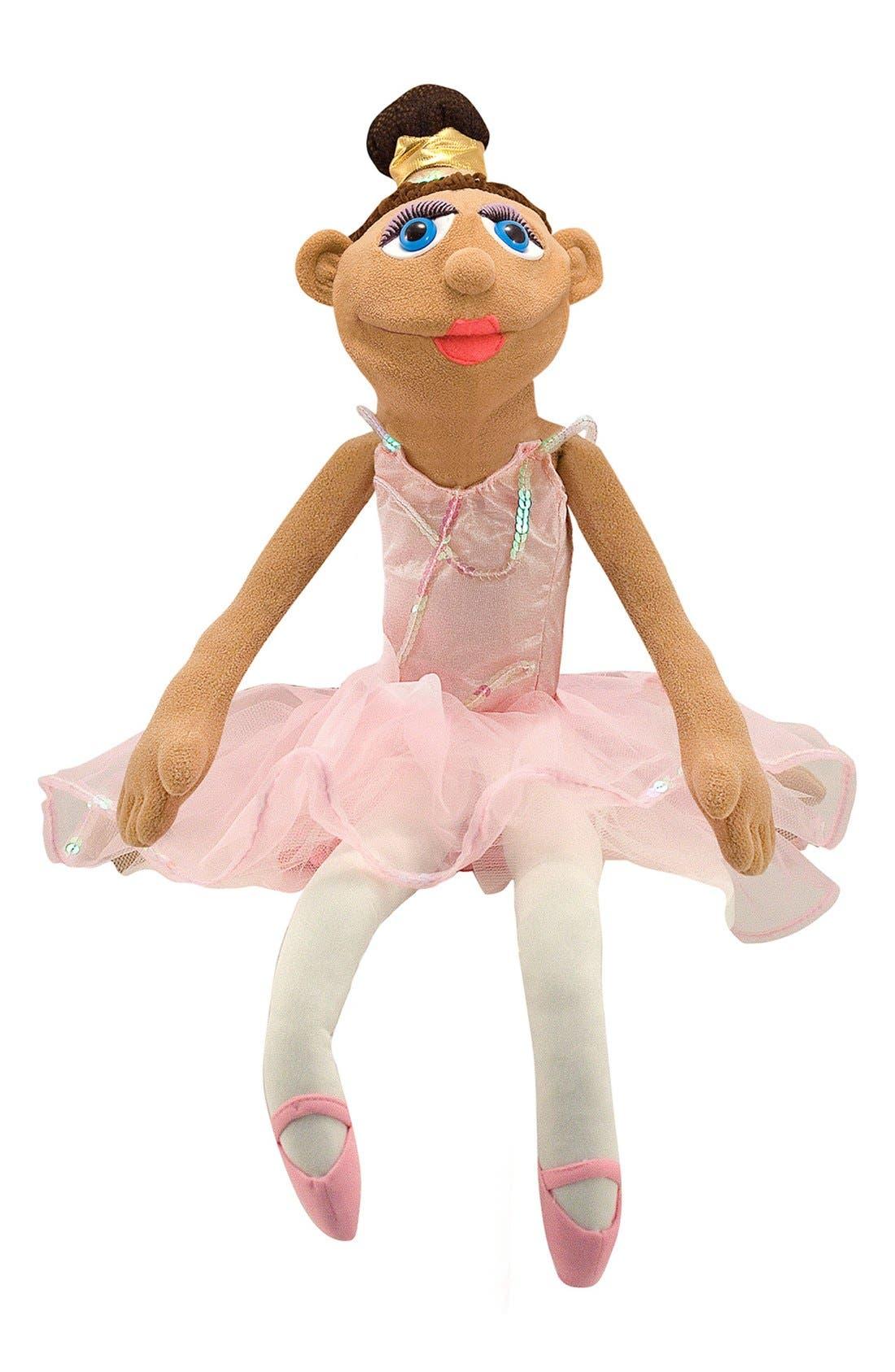 Ballerina Puppet,                         Main,                         color, PINK