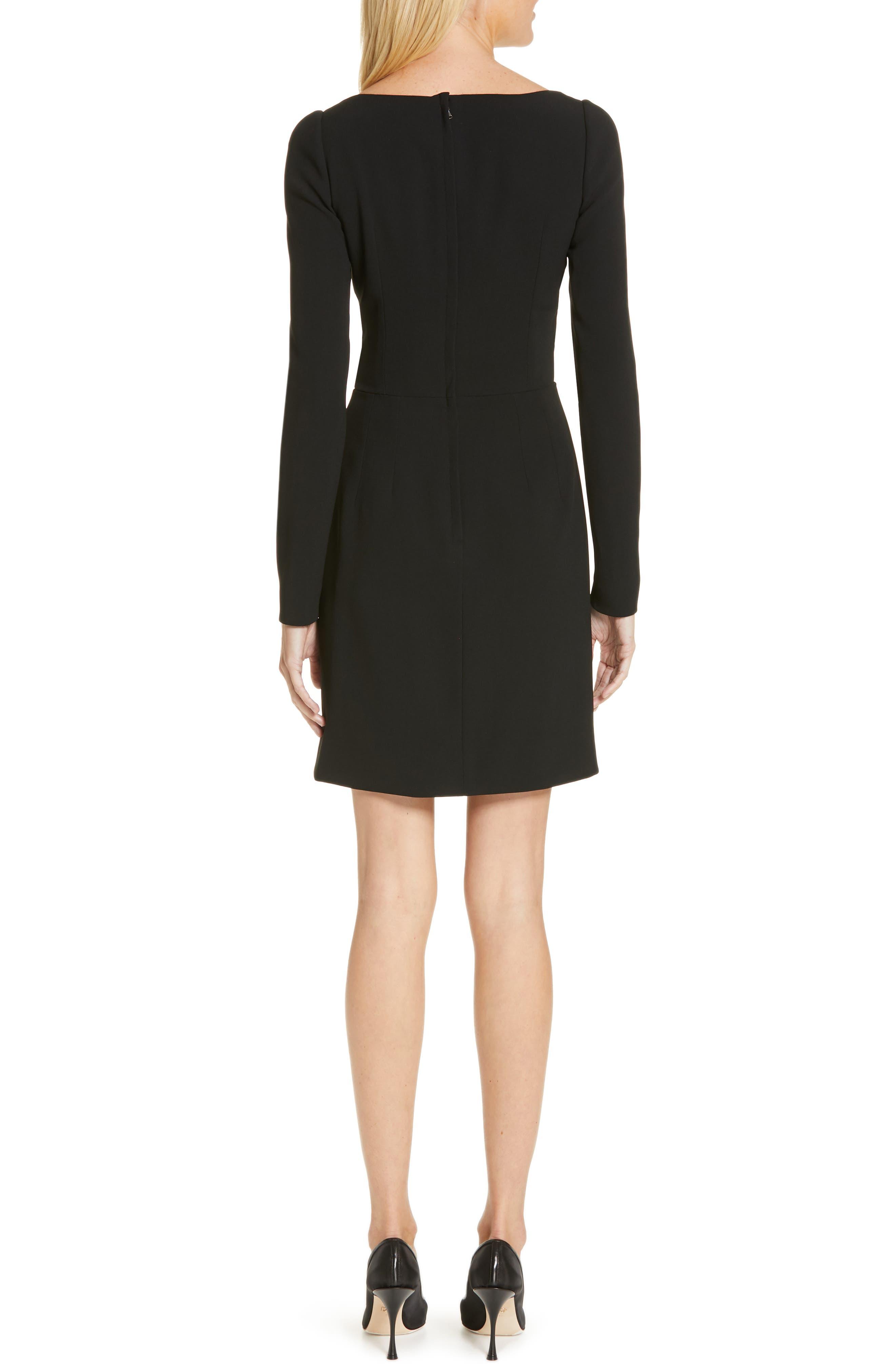 Surplice Dress,                             Alternate thumbnail 2, color,                             BLACK