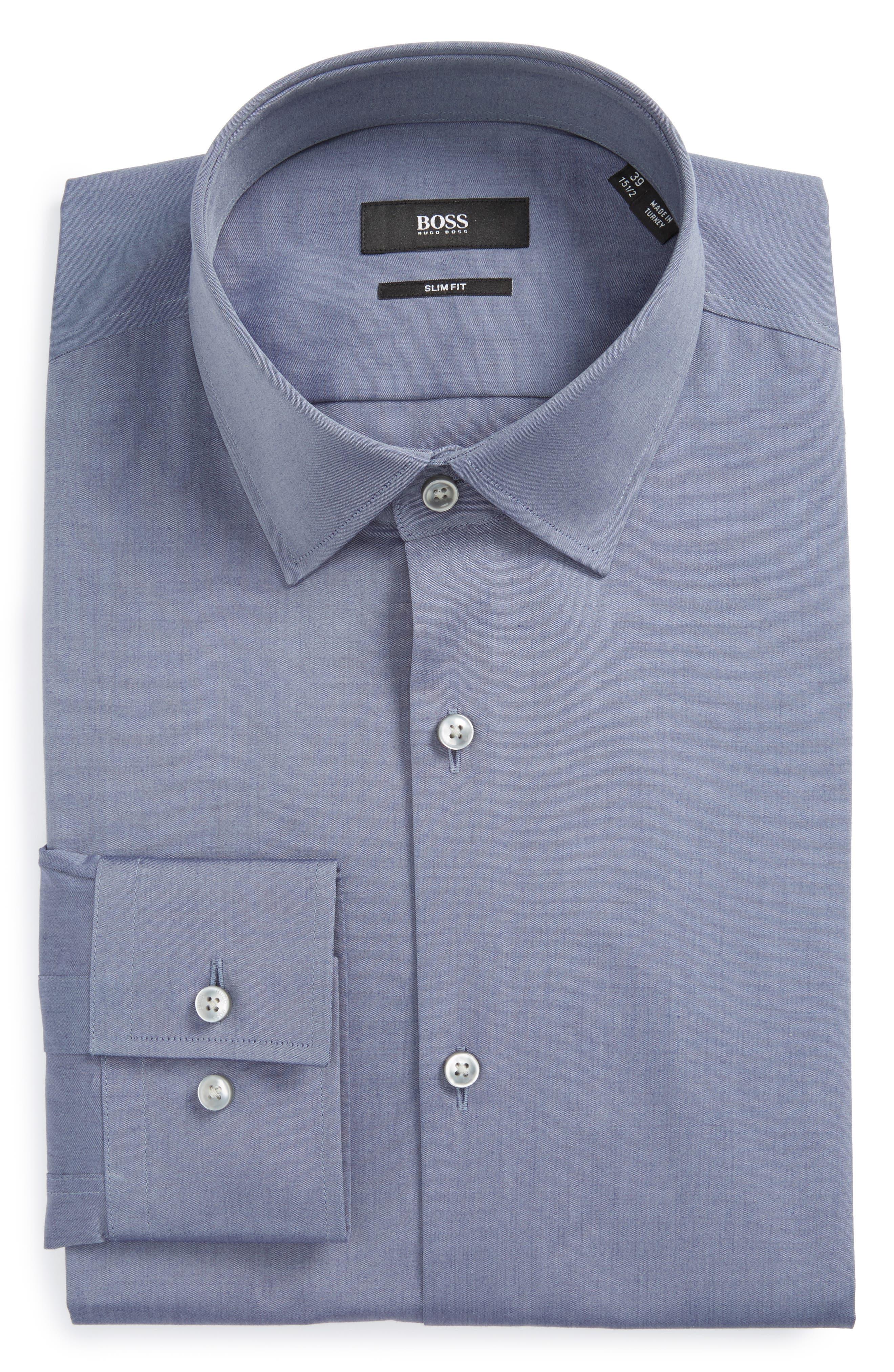 Jenno Slim Fit Solid Dress Shirt,                             Main thumbnail 1, color,                             021