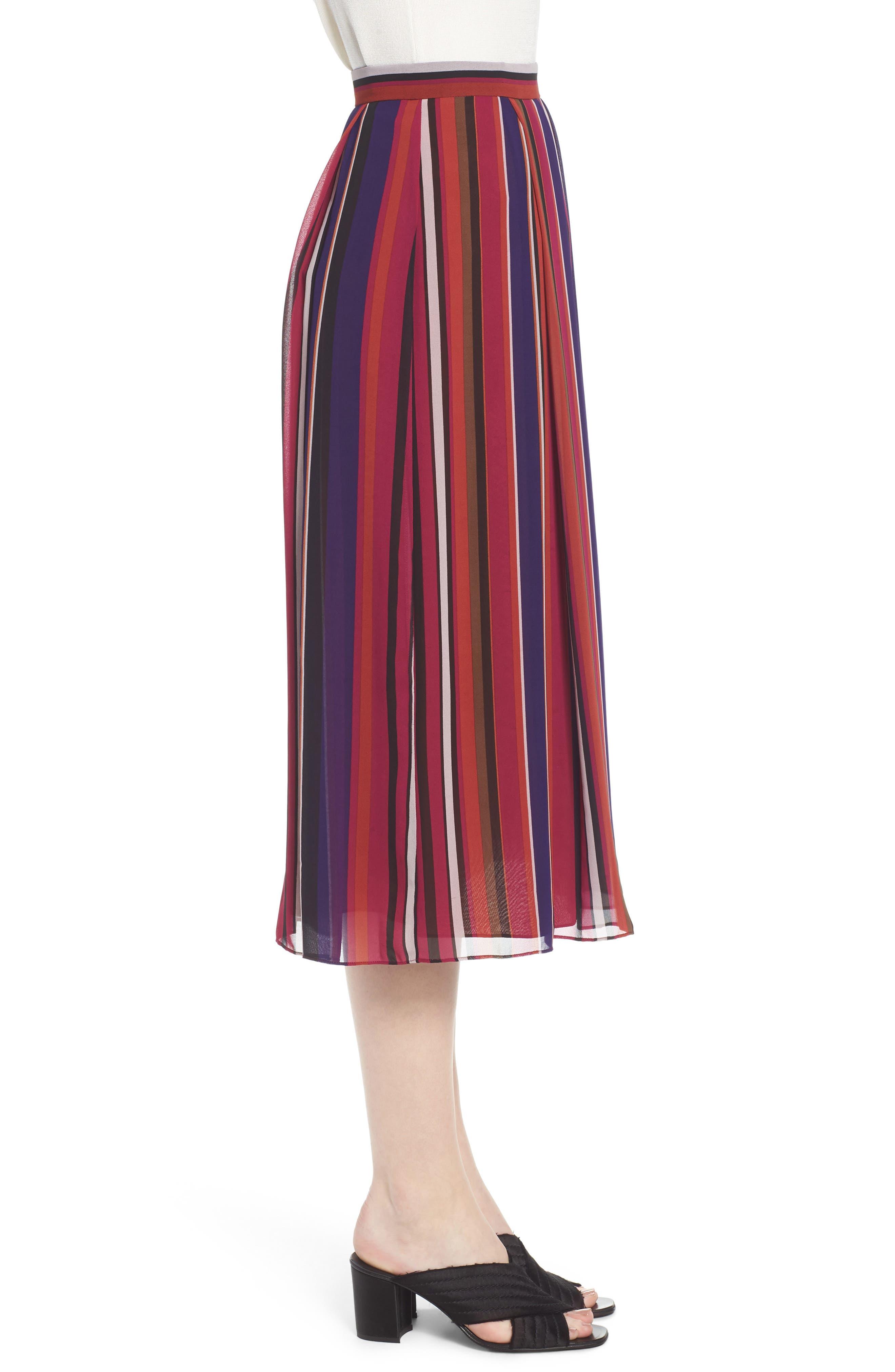 Striped Midi Skirt,                             Alternate thumbnail 3, color,
