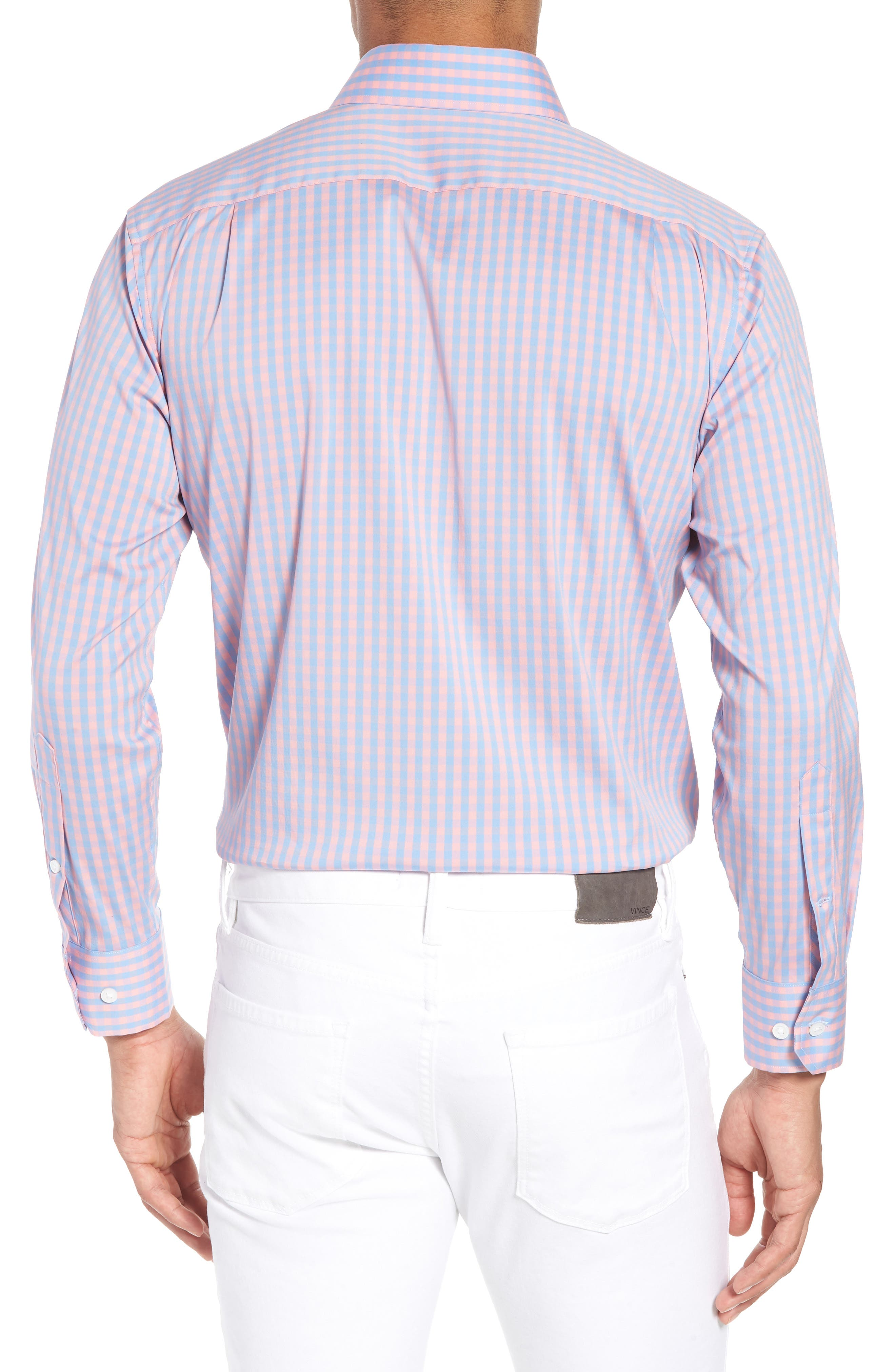 Jetsetter Slim Fit Stretch Check Dress Shirt,                             Alternate thumbnail 3, color,