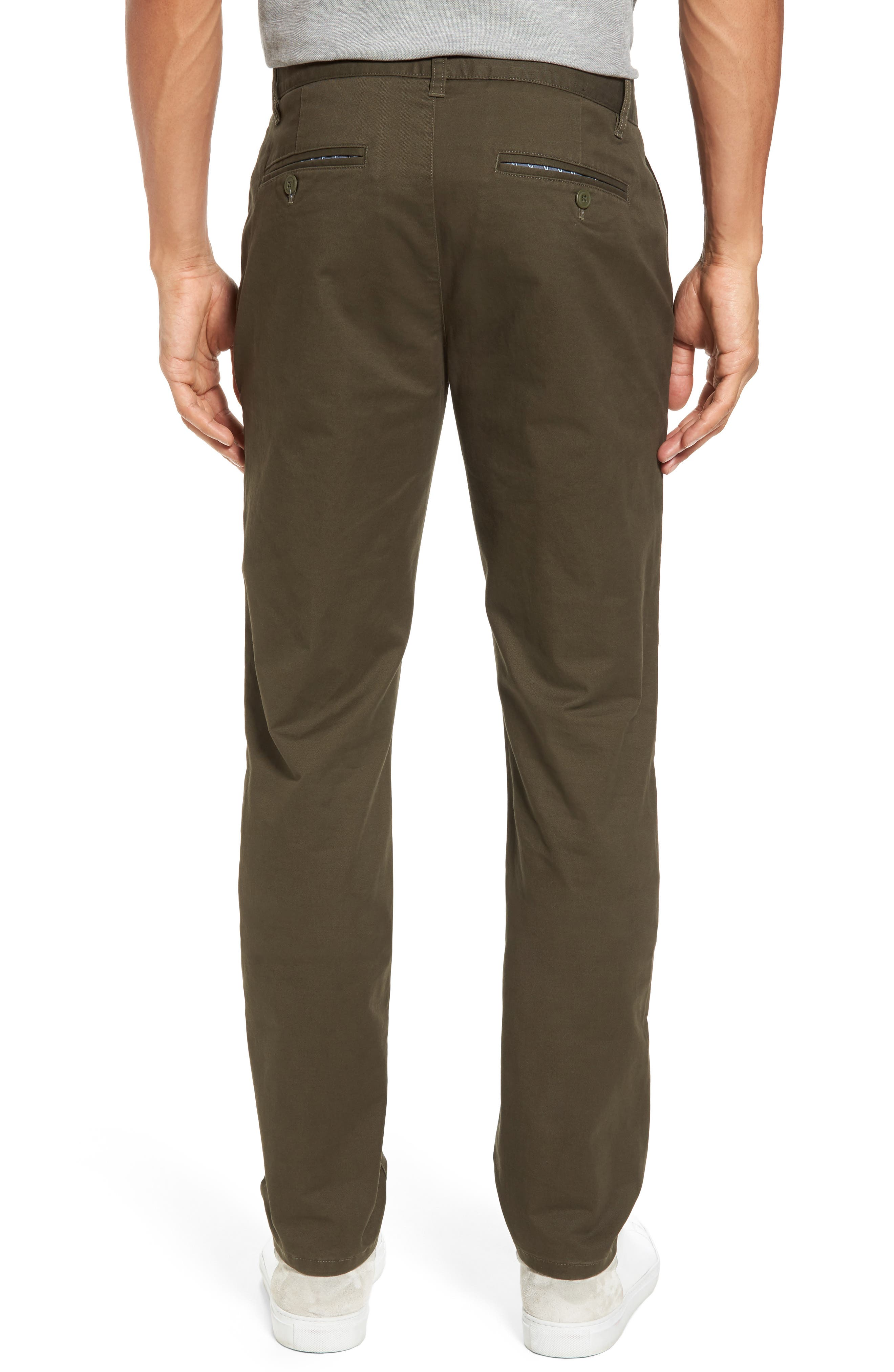 Tailored Fit Washed Stretch Cotton Chinos,                             Alternate thumbnail 66, color,