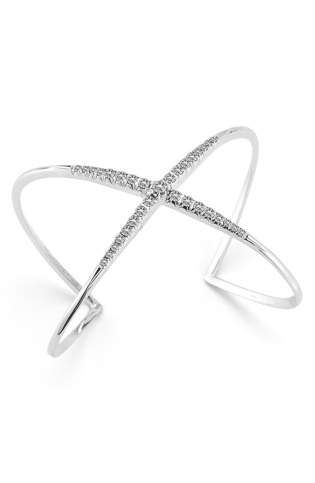 Windrose Pavé Crossover Cuff,                         Main,                         color, 040