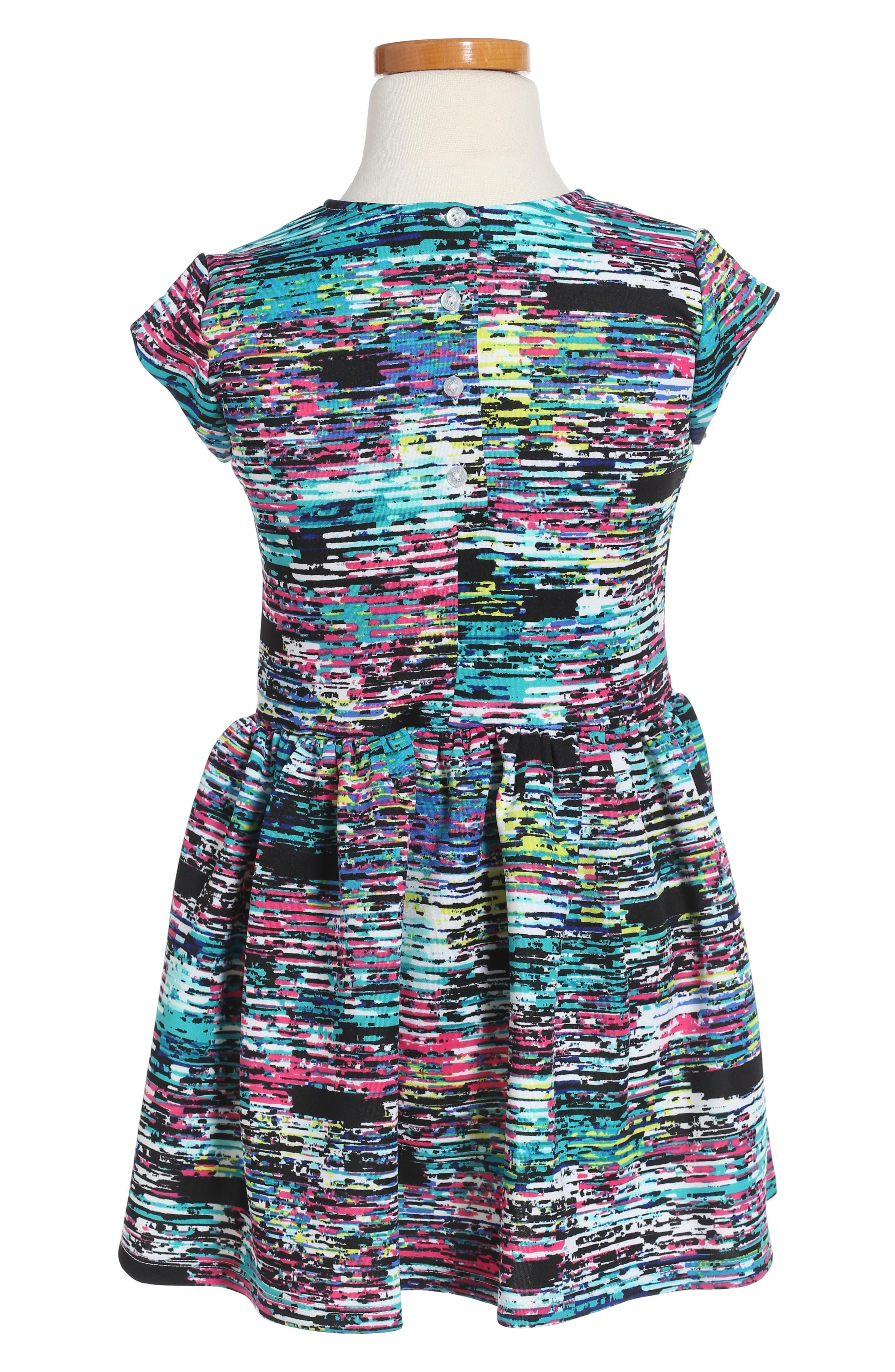 Print Scuba Dress,                             Alternate thumbnail 2, color,                             001