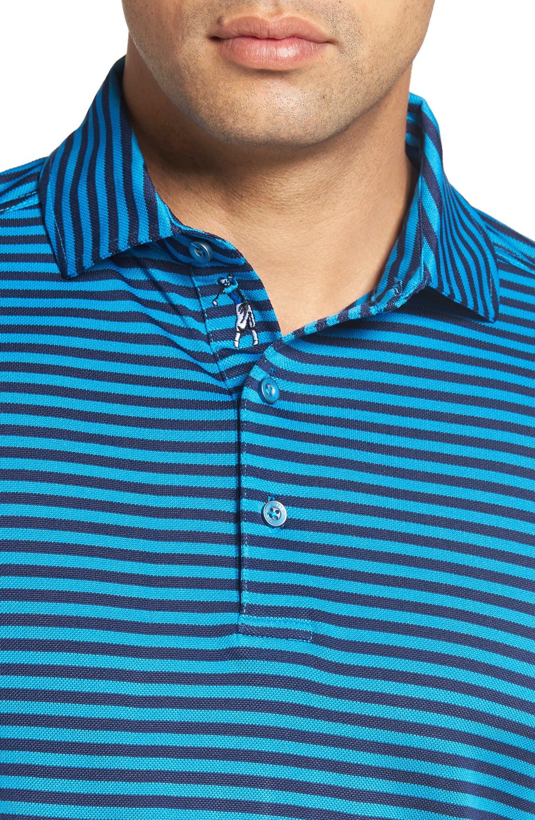 XH2O Feed Stripe Stretch Golf Polo,                             Alternate thumbnail 67, color,