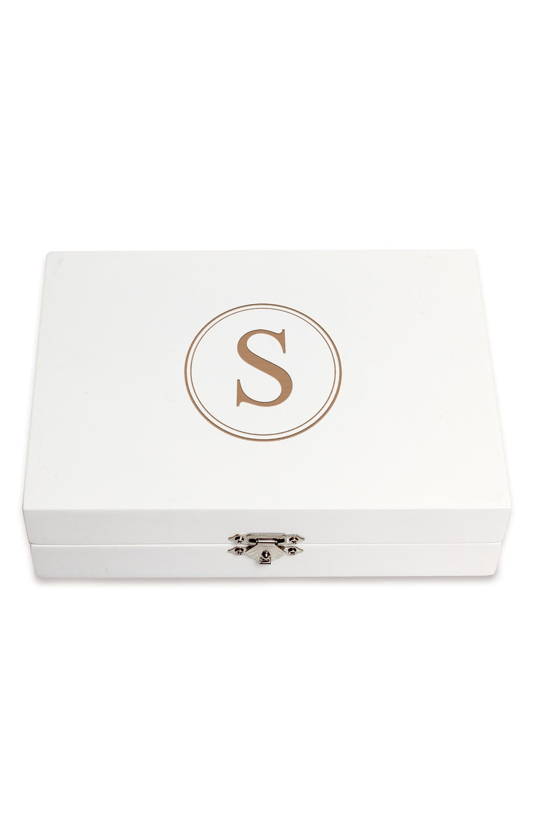 Monogram Wooden Jewelry Box,                             Alternate thumbnail 58, color,