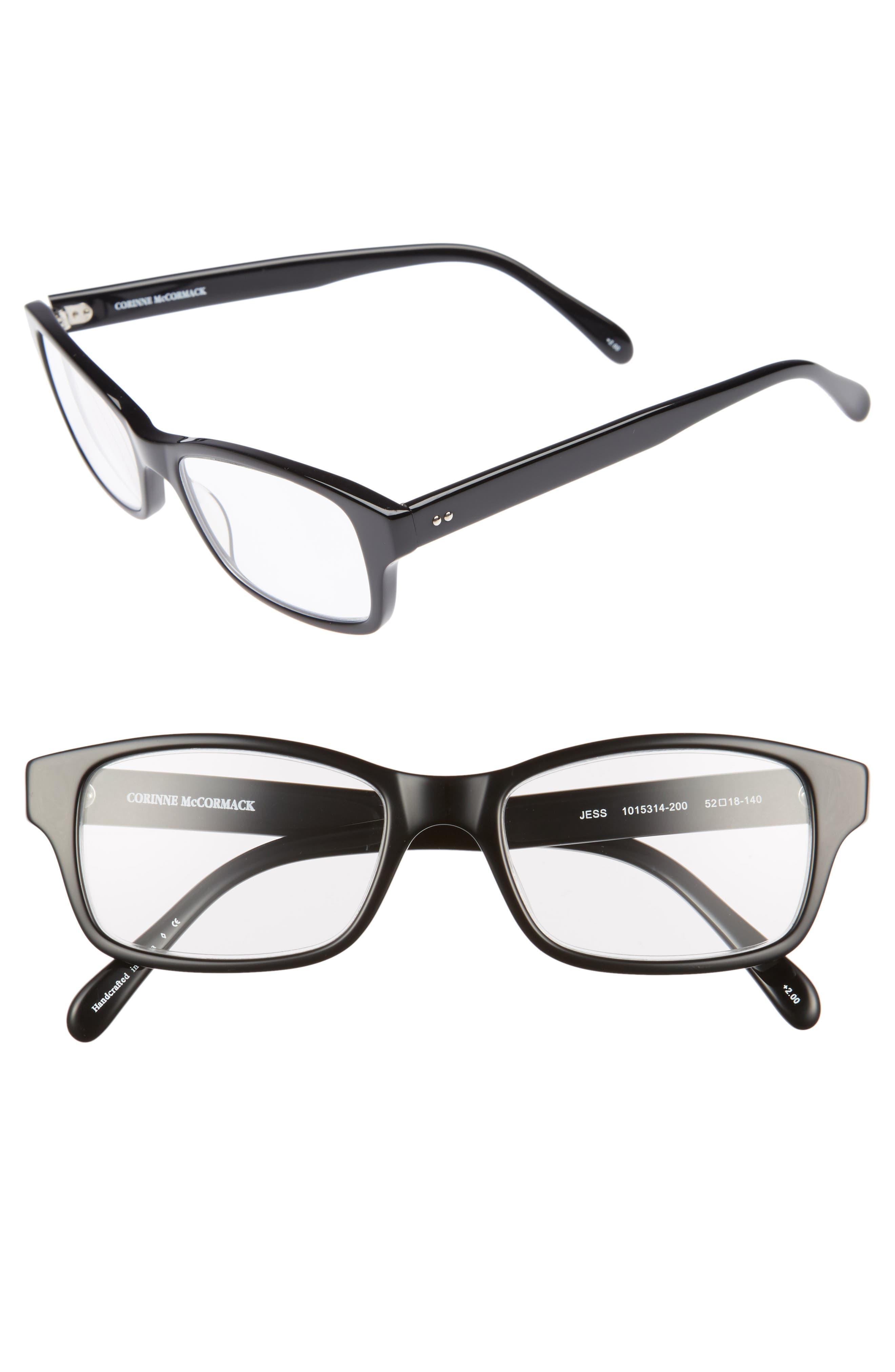 'Jess' 52mm Reading Glasses,                             Main thumbnail 1, color,                             001