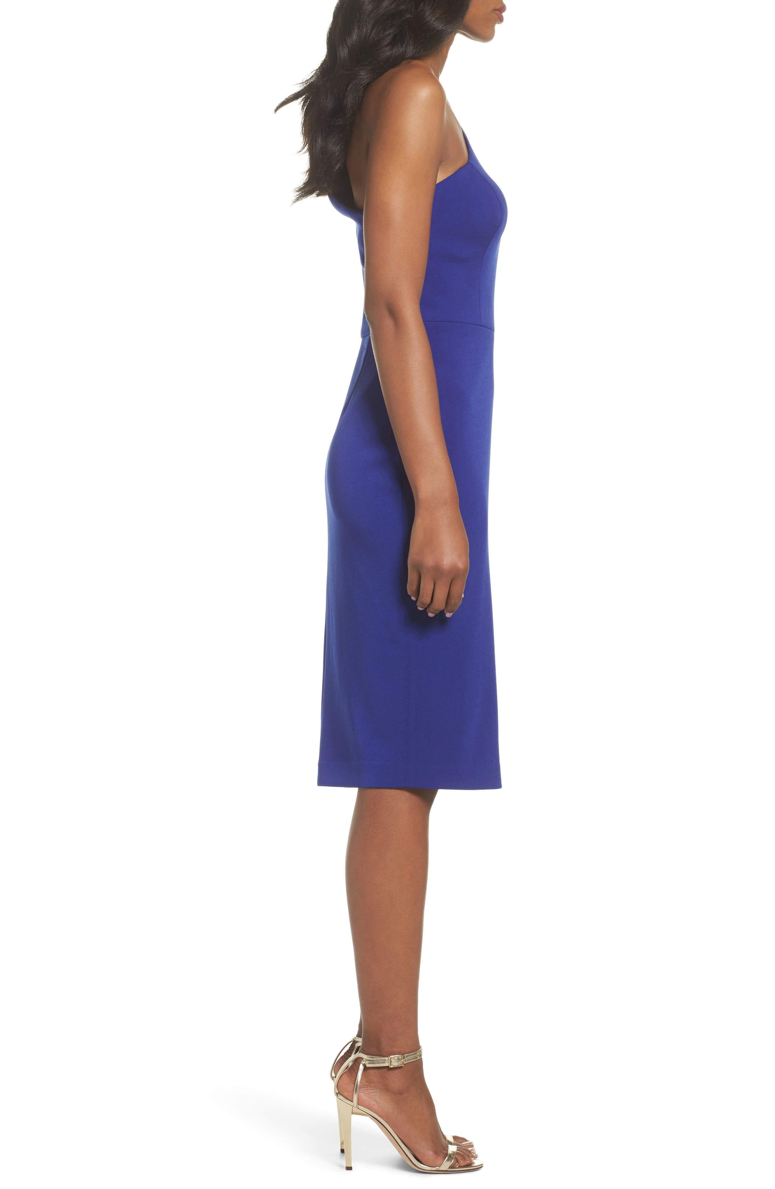 One-Shoulder Sheath Dress,                             Alternate thumbnail 3, color,                             430