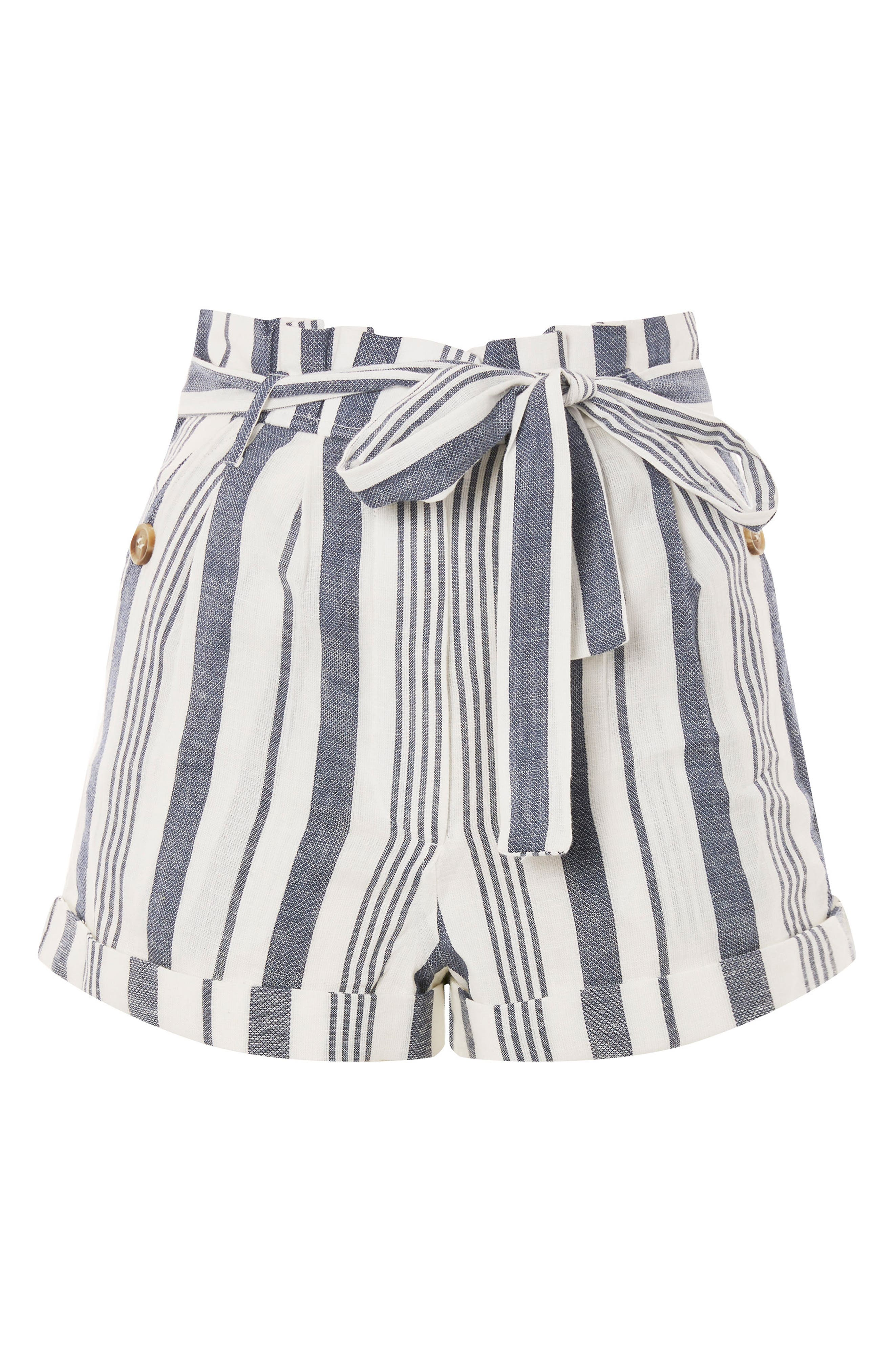 Stripe Paperbag Shorts,                             Alternate thumbnail 4, color,                             900