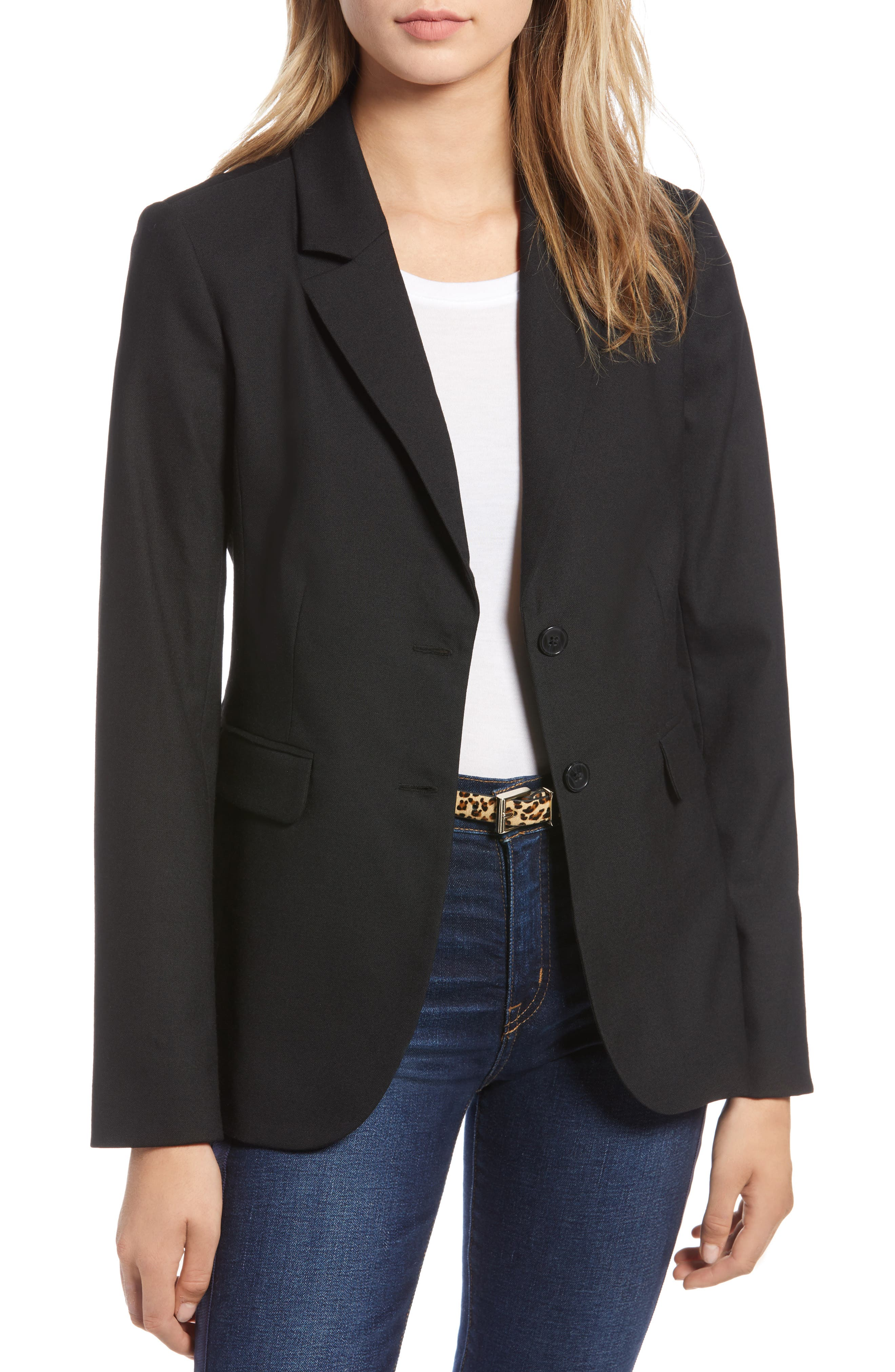 Original Wool Blazer,                         Main,                         color, BLACK