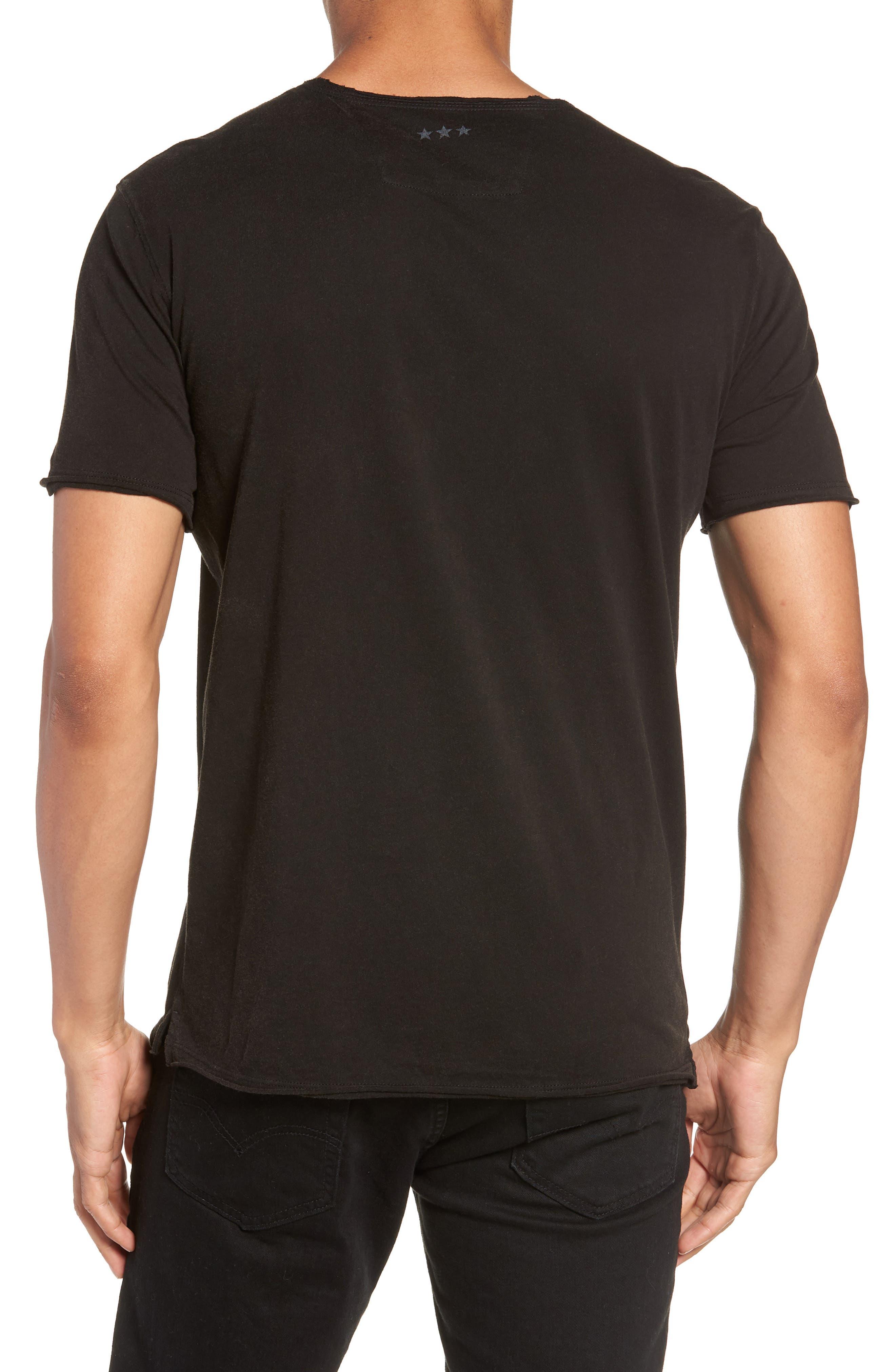 JOHN VARVATOS STAR USA,                             Bowery Live Graphic T-Shirt,                             Alternate thumbnail 2, color,                             001