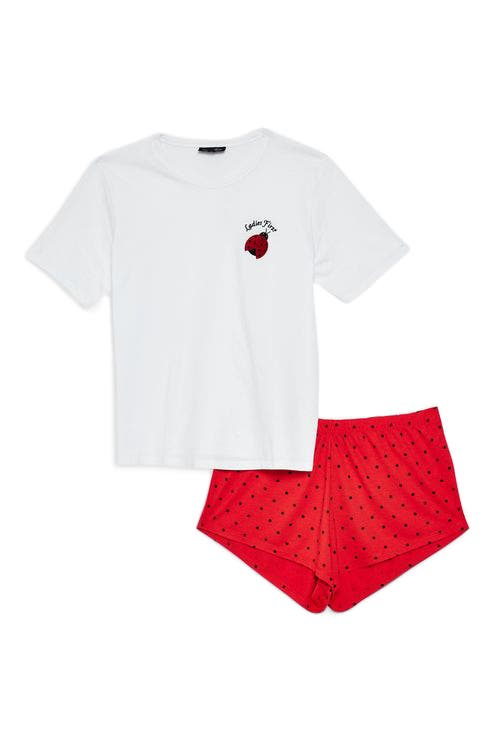 Ladies First Short Pajamas,                             Main thumbnail 1, color,                             600