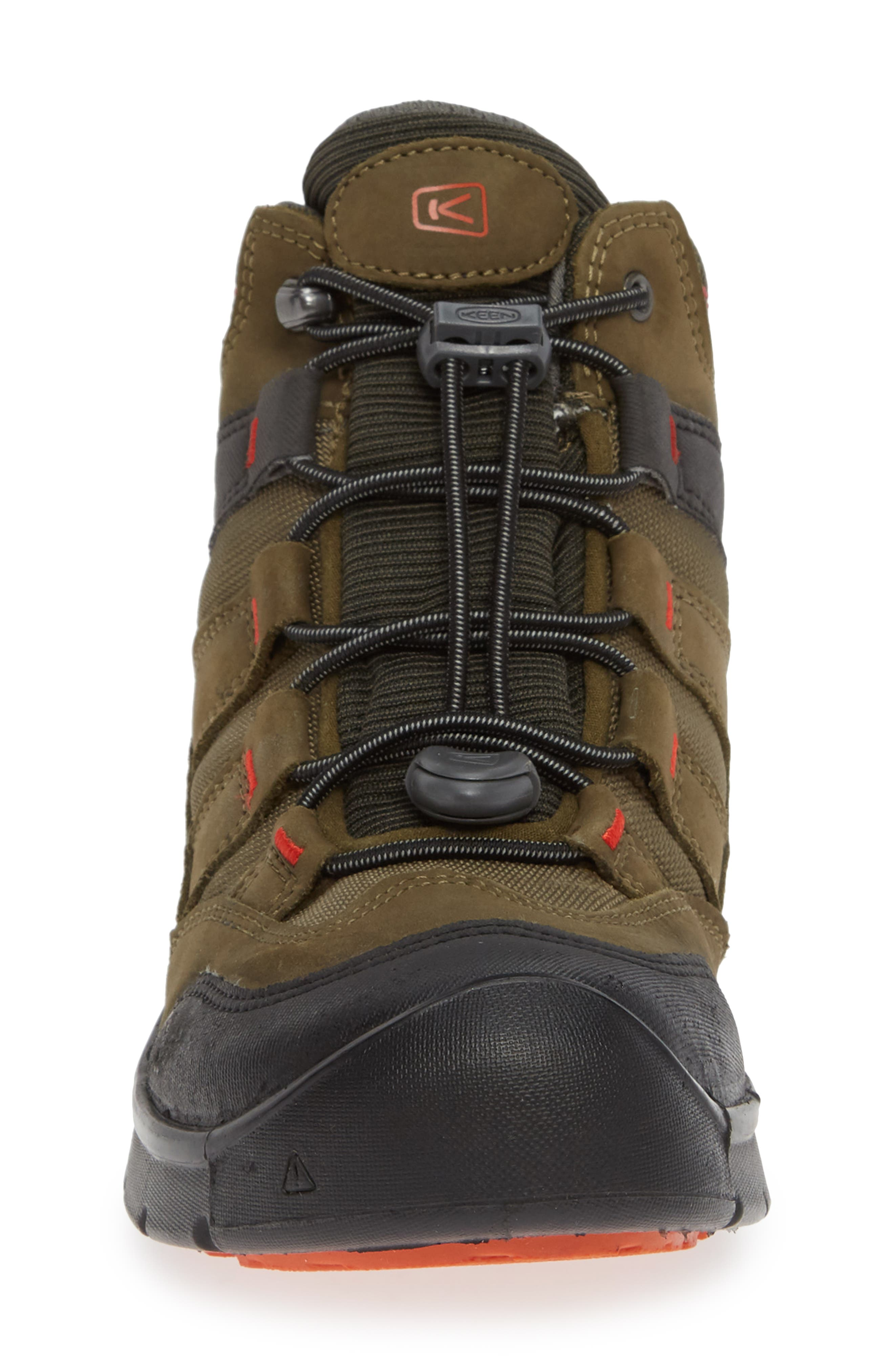 Hikeport Strap Waterproof Mid Boot,                             Alternate thumbnail 4, color,                             MARTINI OLIVE/ PUREED PUMPKIN