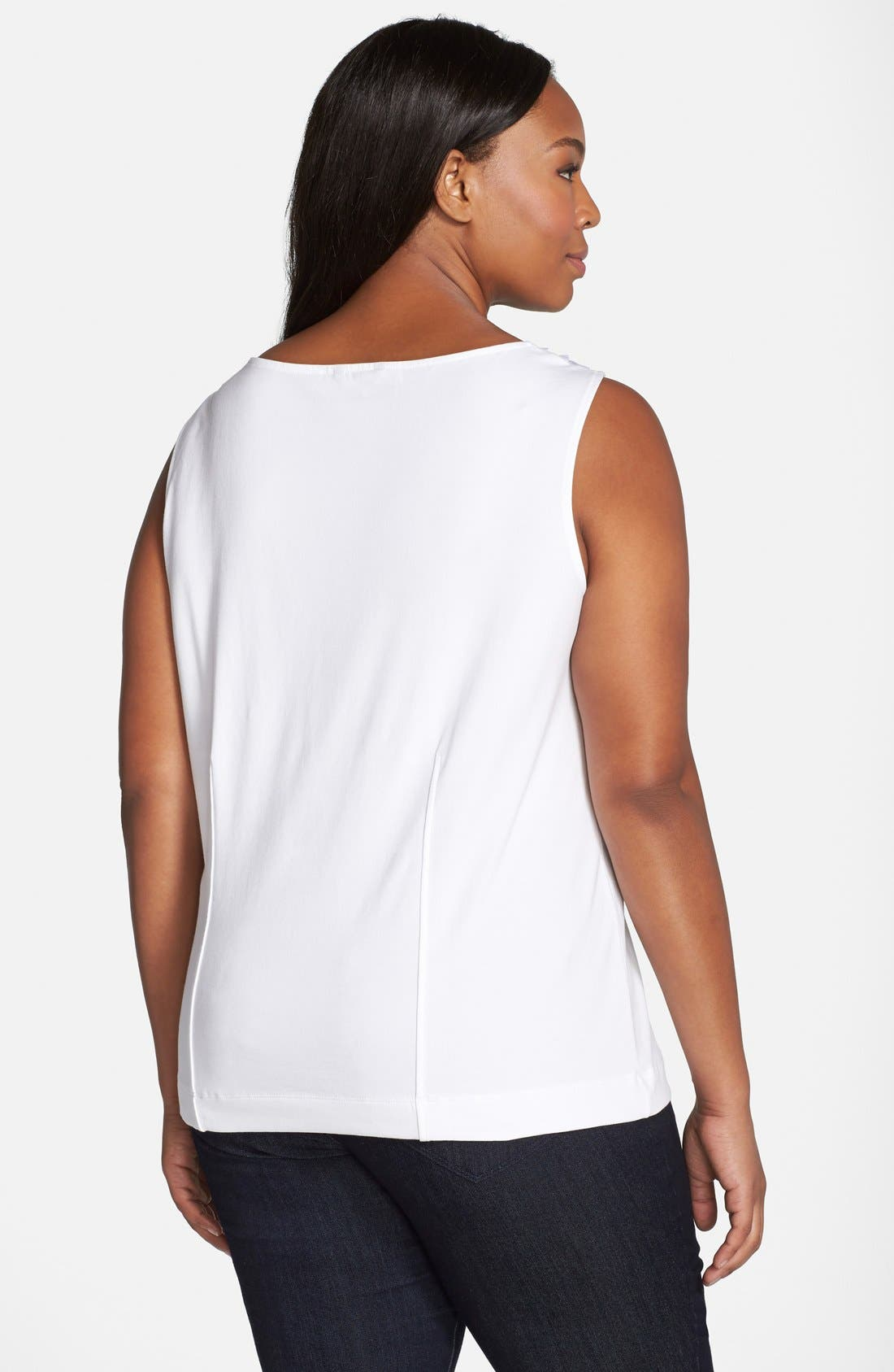 'Sweet Pleat' Sleeveless Top,                             Alternate thumbnail 7, color,                             123