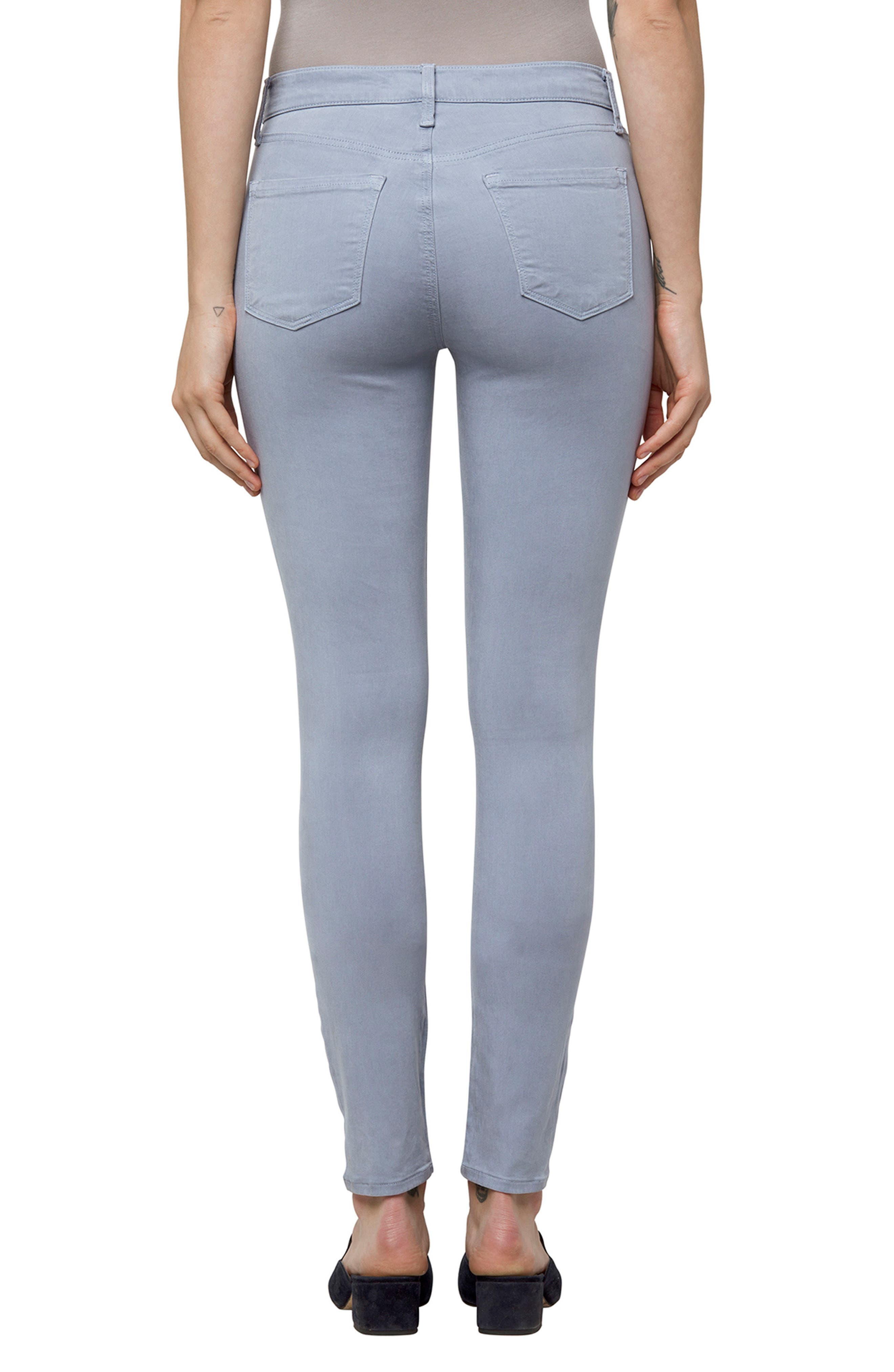 High Waist Ankle Super Skinny Jeans,                             Alternate thumbnail 24, color,